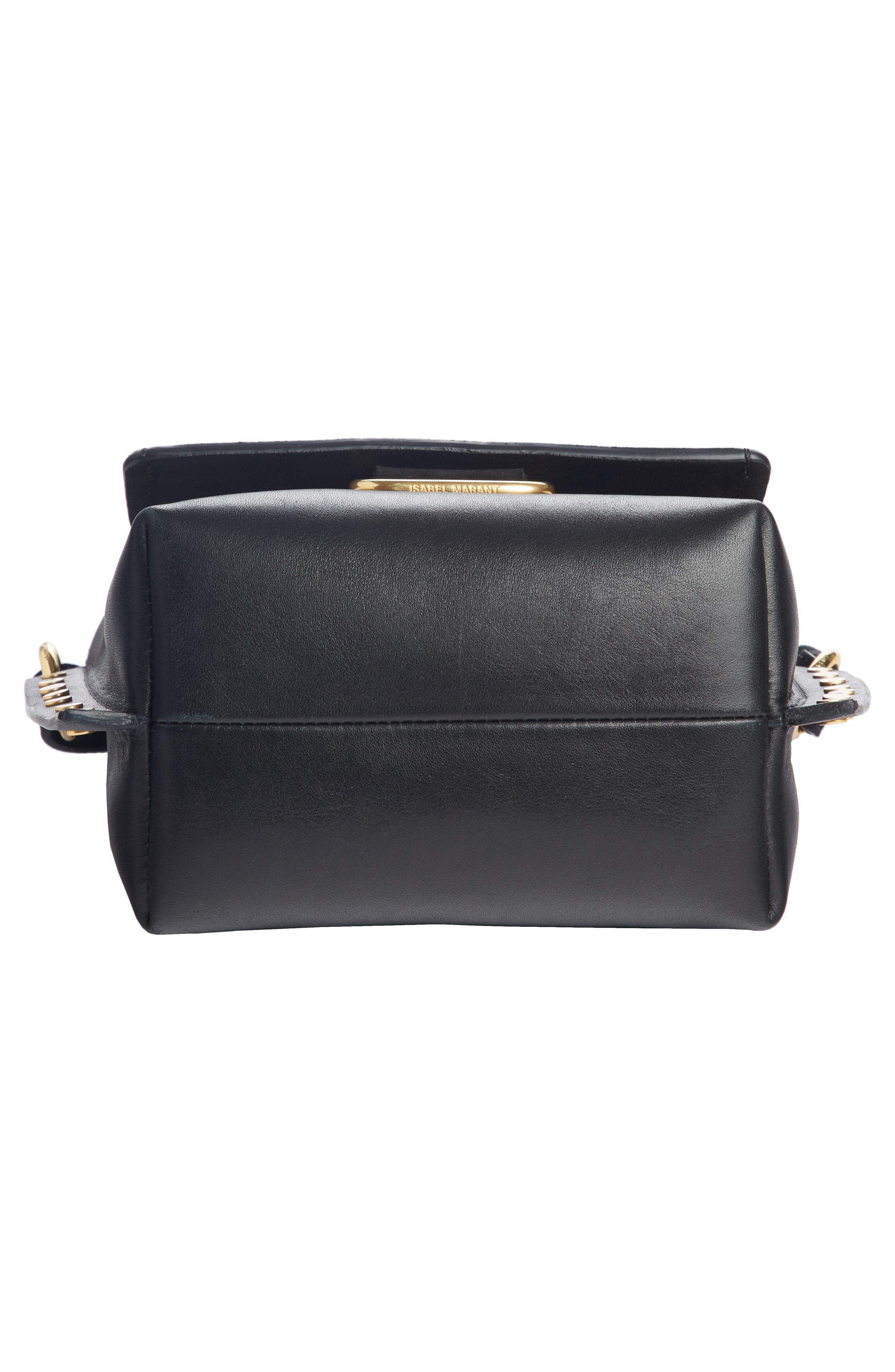 Kleny Leather Shoulder Bag,                             Alternate thumbnail 4, color,                             001