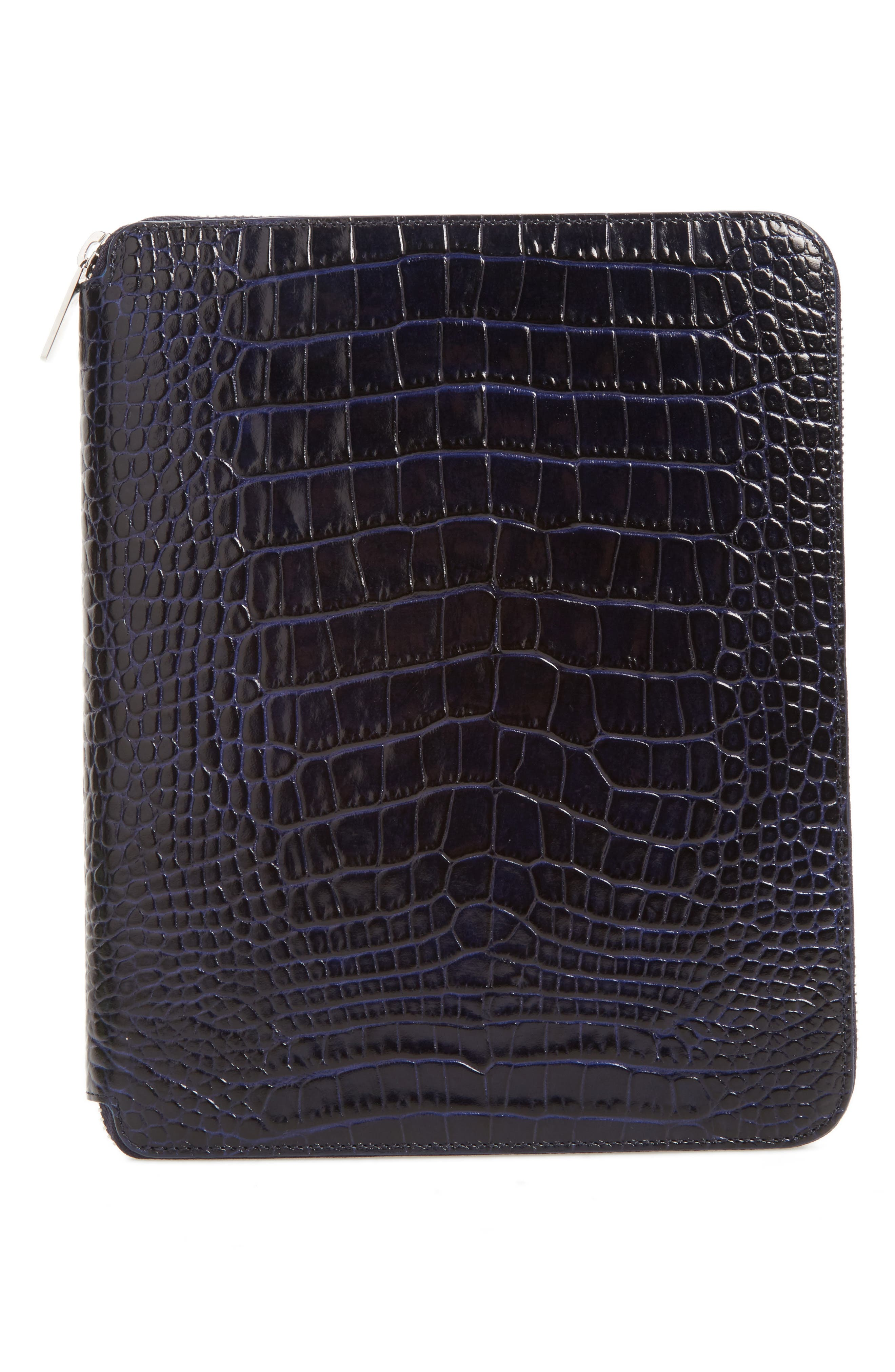 Mara Croc Embossed Zip Folder & A5 Notebook,                         Main,                         color, 450