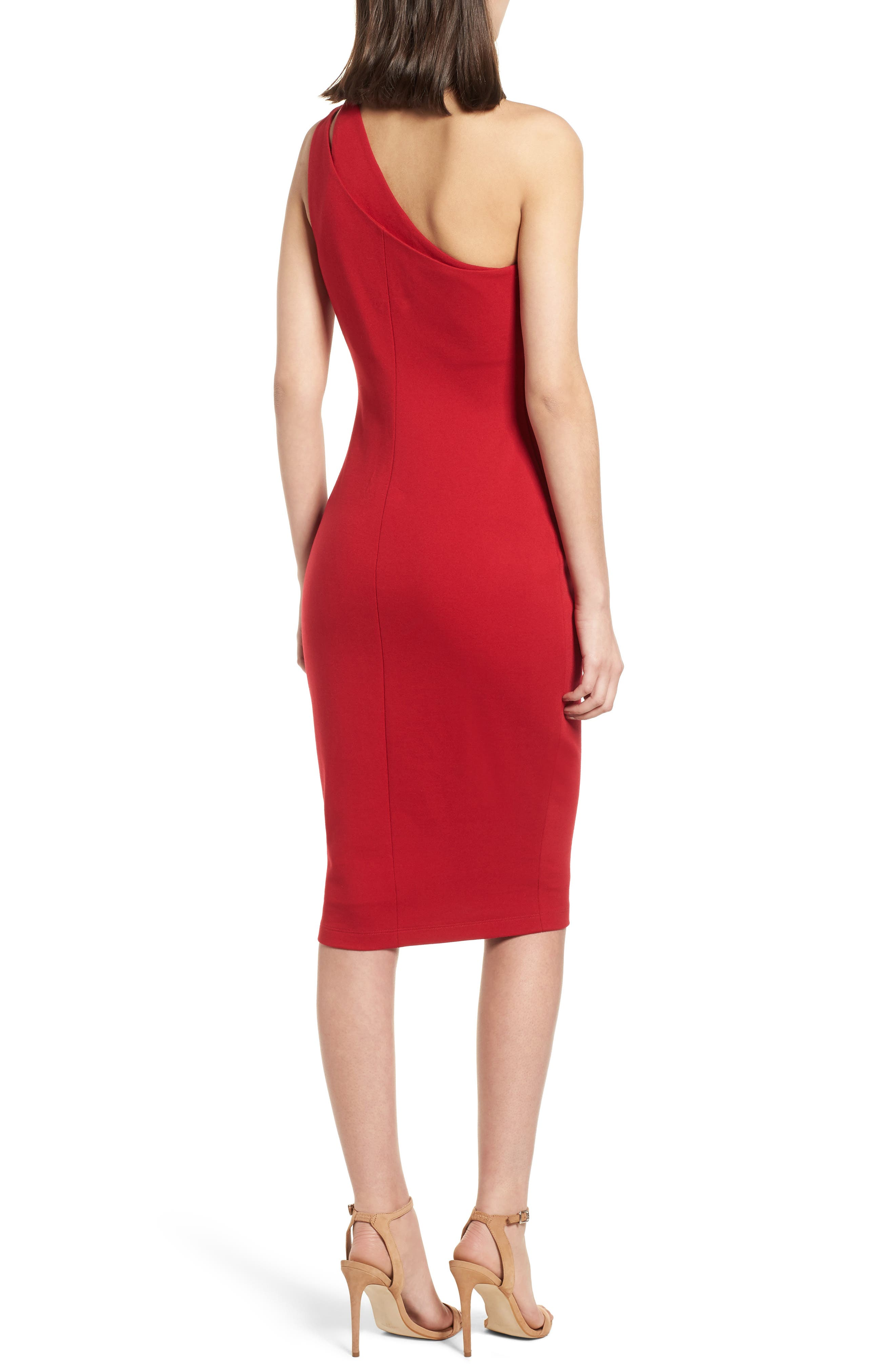 Sidewinder One-Shoulder Body-Con Dress,                             Alternate thumbnail 2, color,                             700