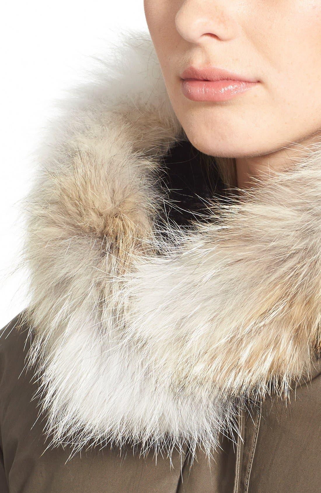 'Benedicte' Genuine Fox Fur Trim Down Parka,                             Alternate thumbnail 3, color,                             345