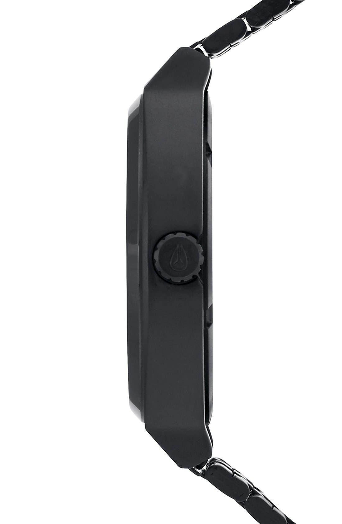 'The Time Teller' Bracelet Watch, 37mm,                             Alternate thumbnail 3, color,                             BLACK