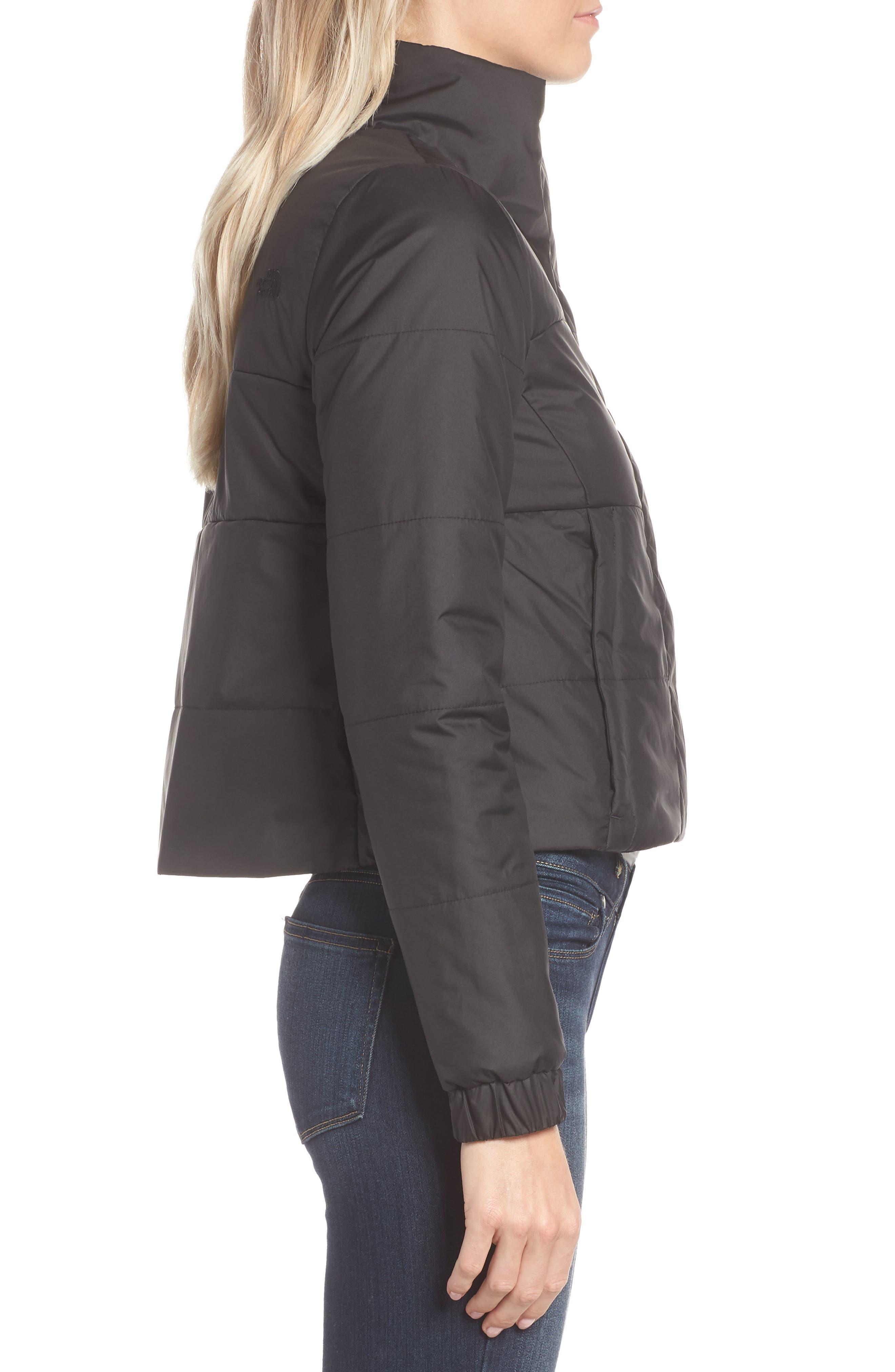 THE NORTH FACE,                             Femtastic Heatseeker Insulated Jacket,                             Alternate thumbnail 3, color,                             TNF BLACK