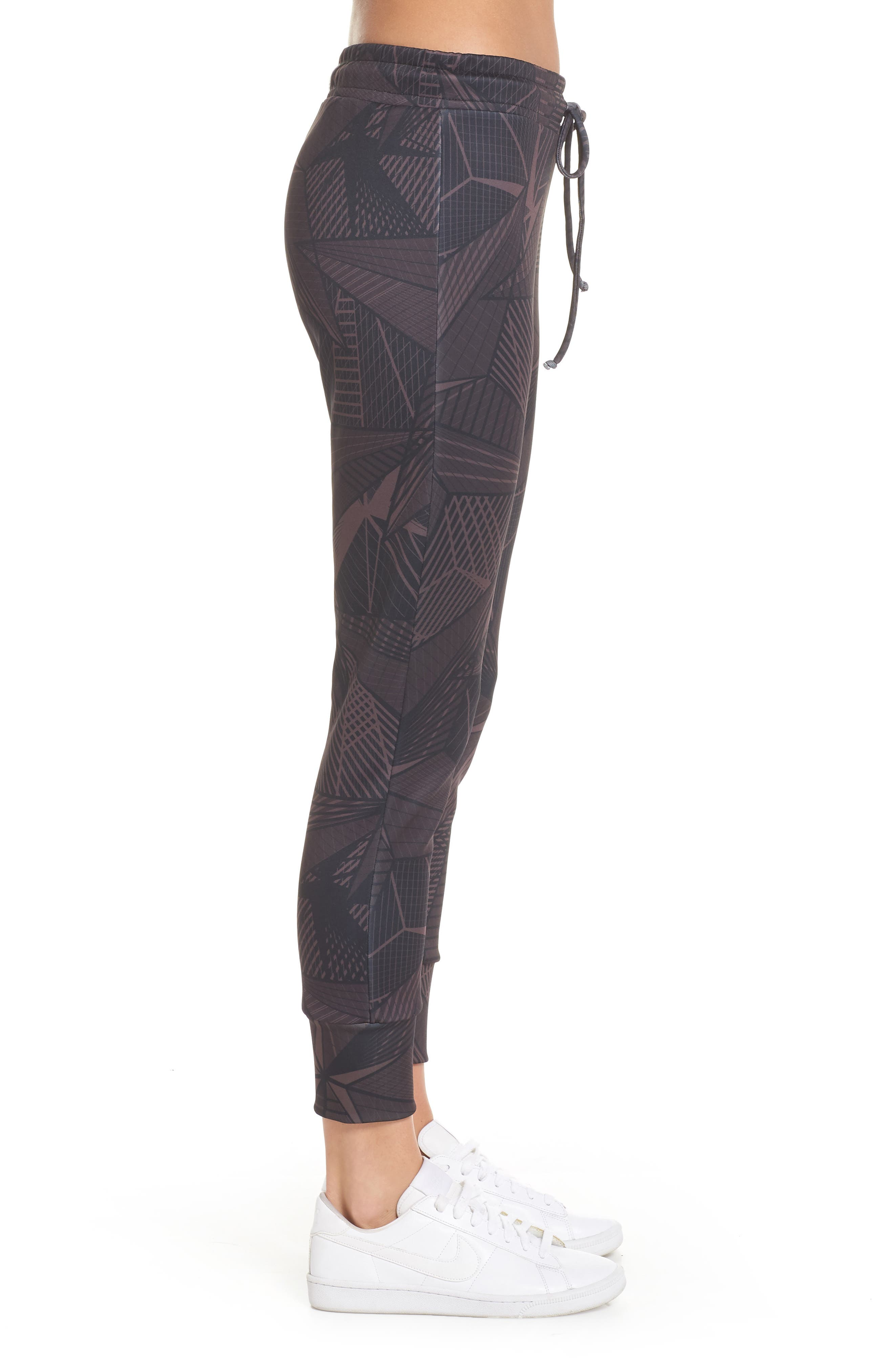 Desire Stars Jogger Pants,                             Alternate thumbnail 3, color,                             DARK RED