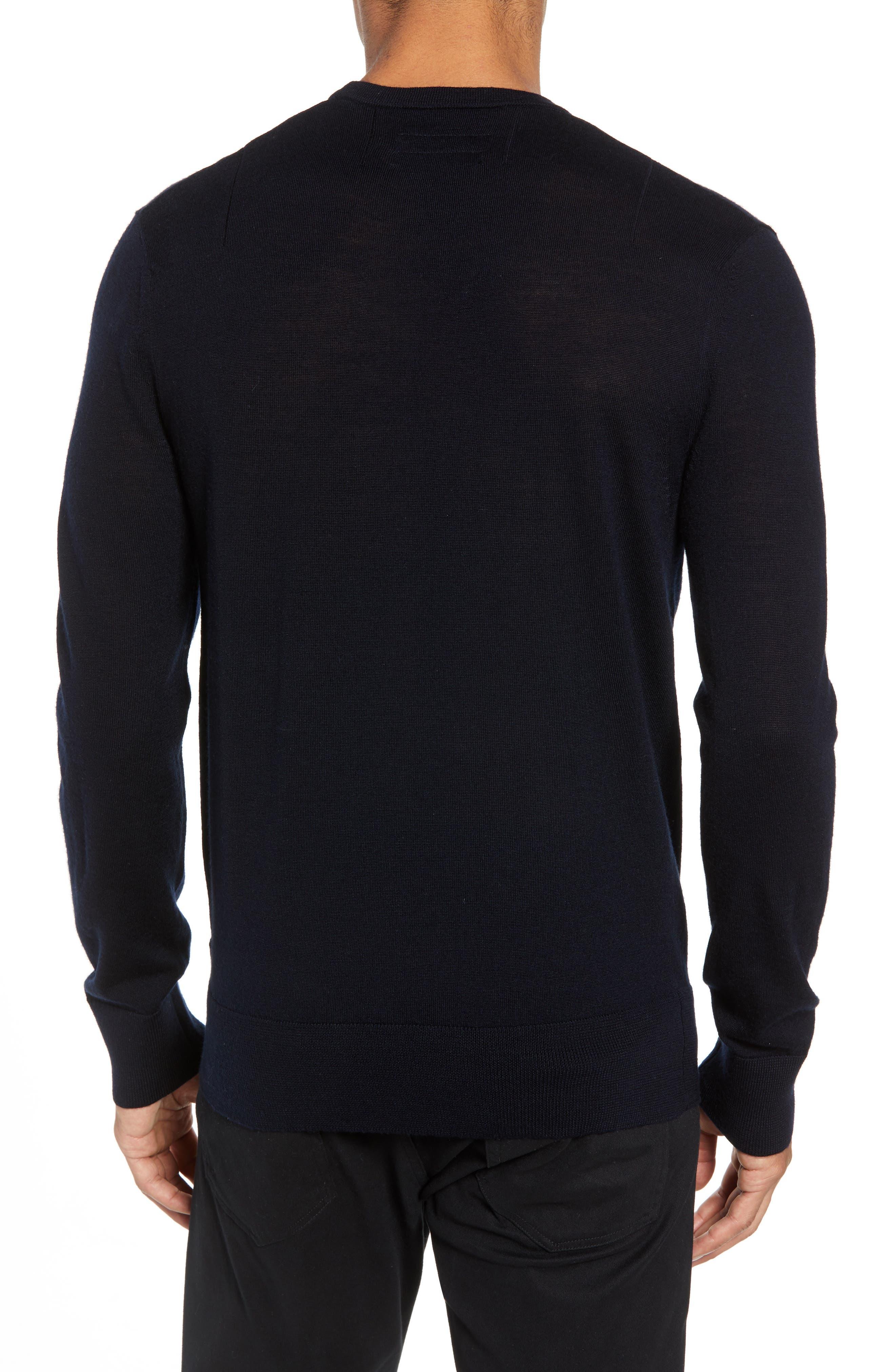 Mode Slim Fit Merino Wool Sweater,                             Alternate thumbnail 13, color,