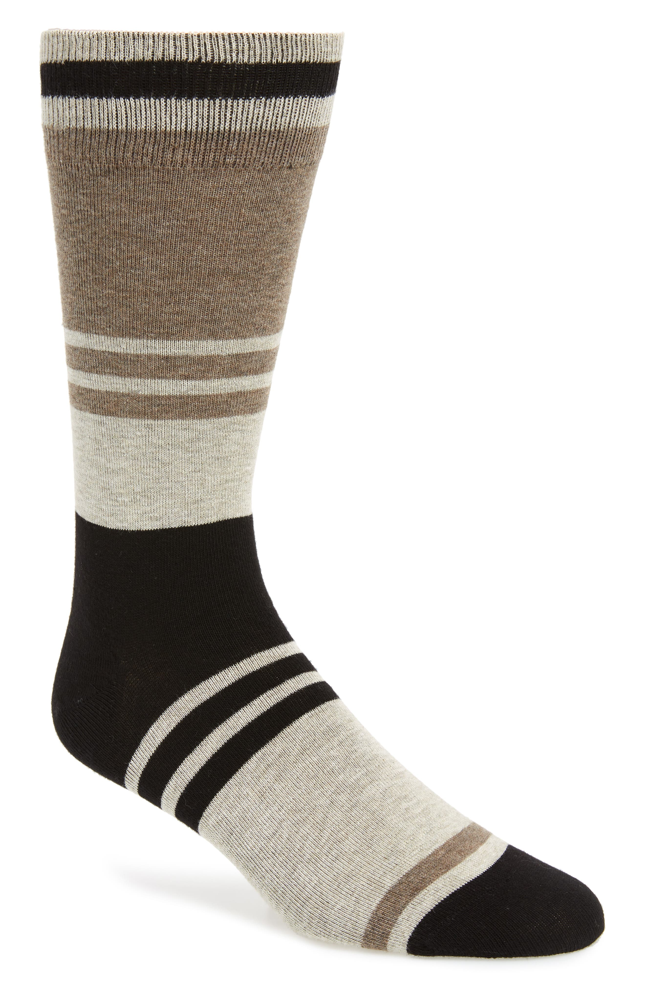 Collegiate Colorblock Socks,                             Main thumbnail 1, color,                             KHAKI