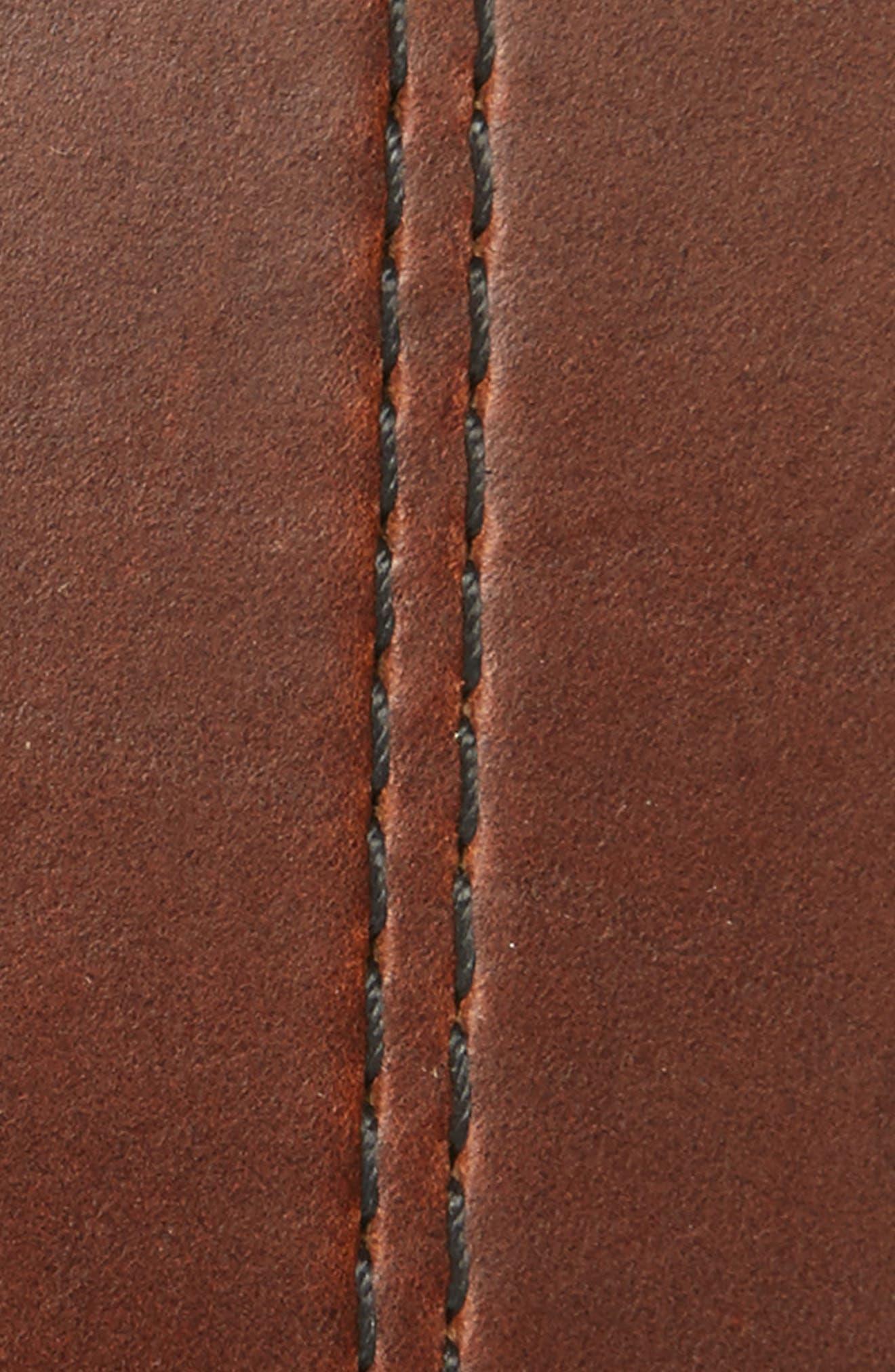 Mason Center Stitch Horween<sup>®</sup> Leather Belt,                             Alternate thumbnail 5, color,