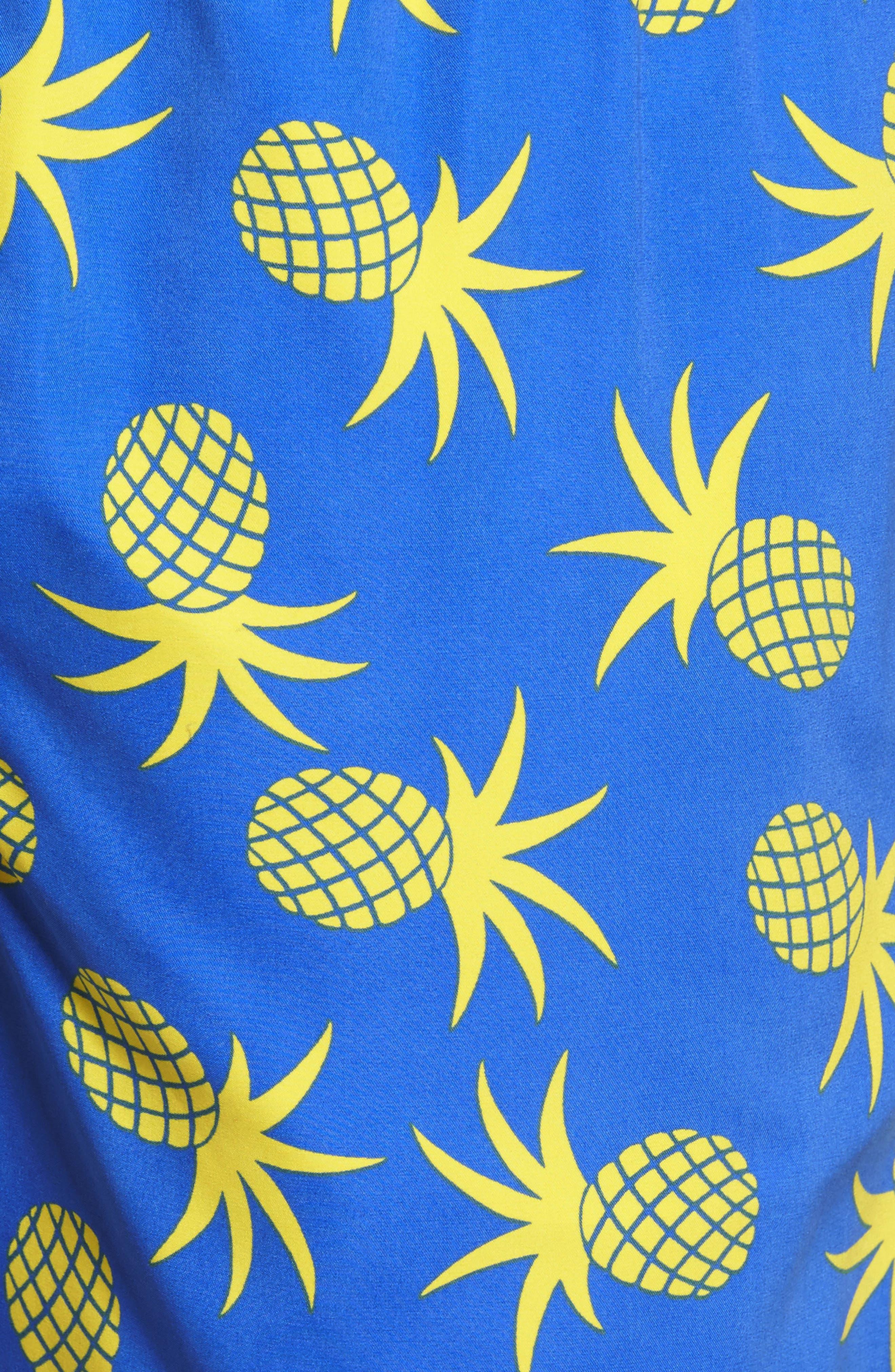 Pineapple Swim Trunks,                             Alternate thumbnail 5, color,                             430