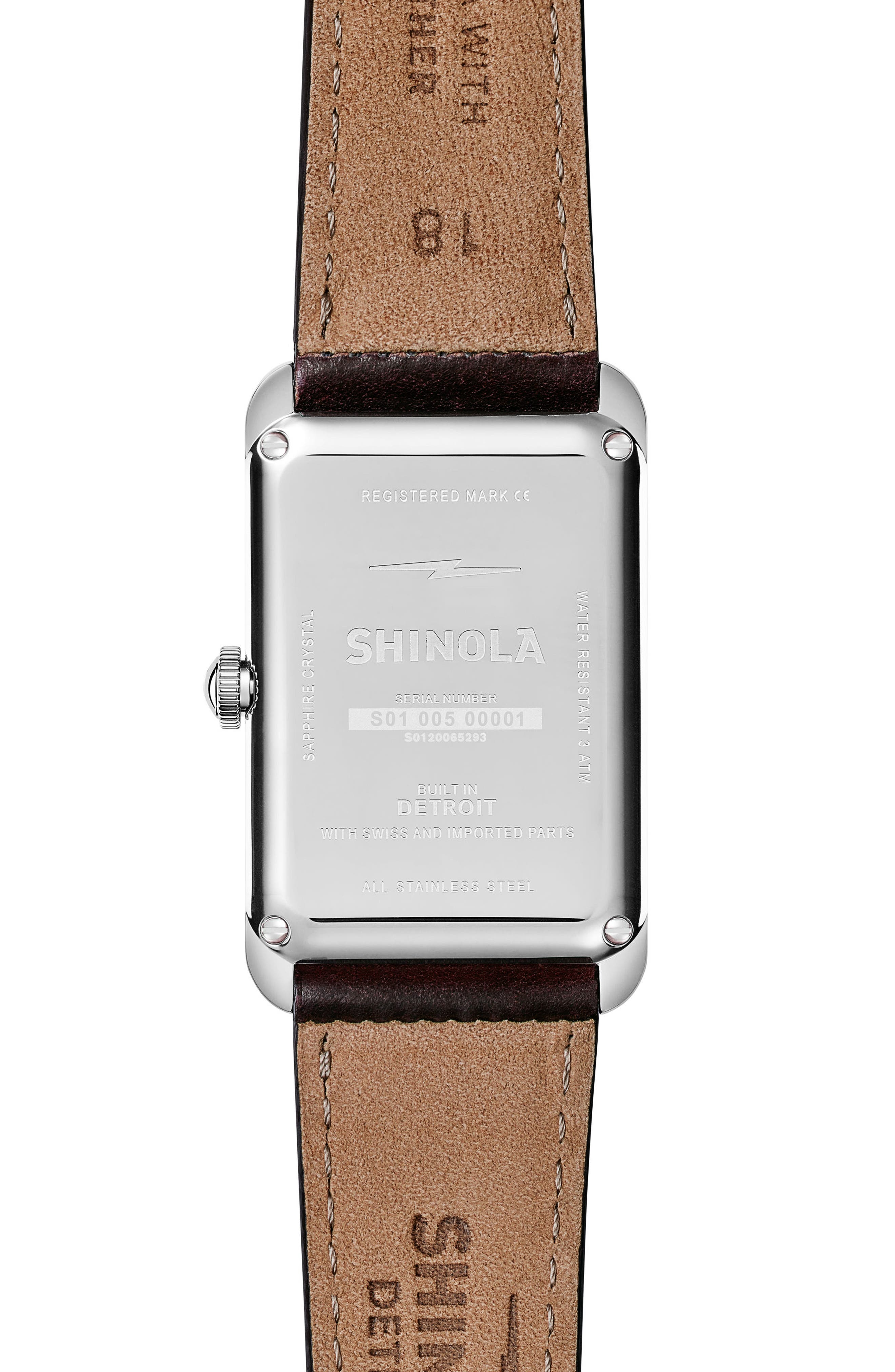 The Muldowney Rectangular Leather Strap Watch, 24mm x 32mm,                             Alternate thumbnail 2, color,                             202