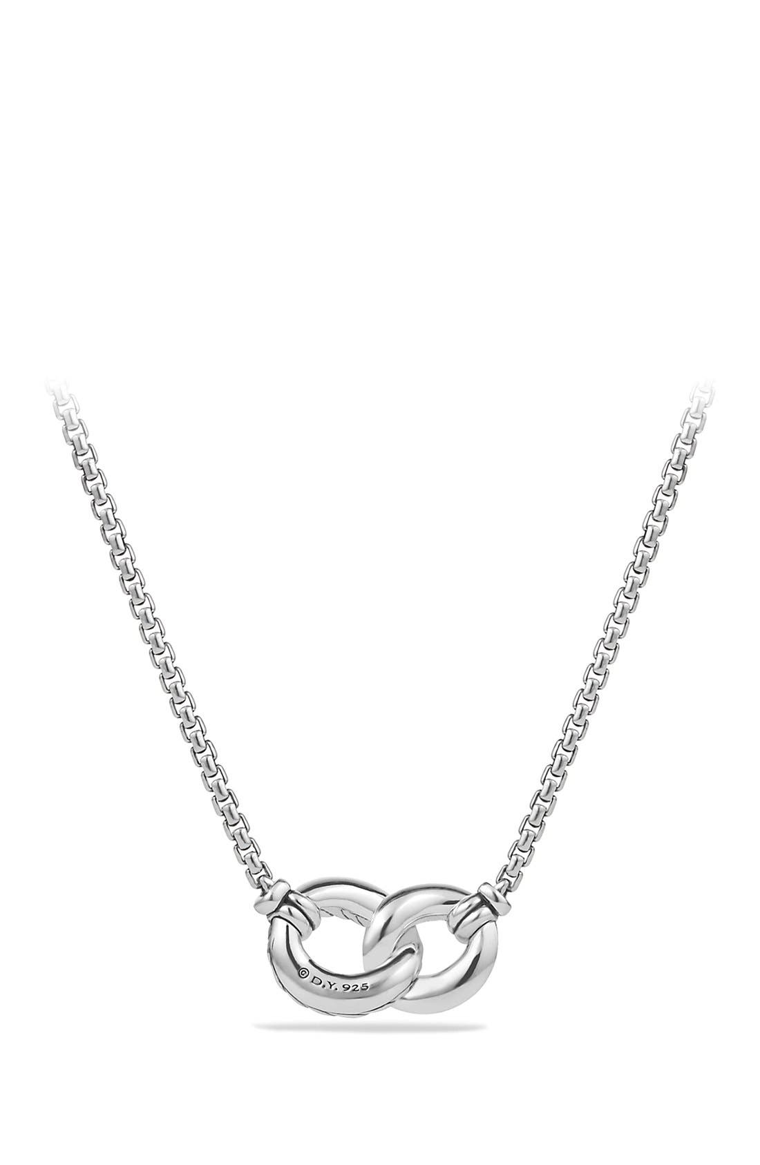 'Belmont' Necklace with Diamonds,                             Alternate thumbnail 3, color,                             DIAMOND