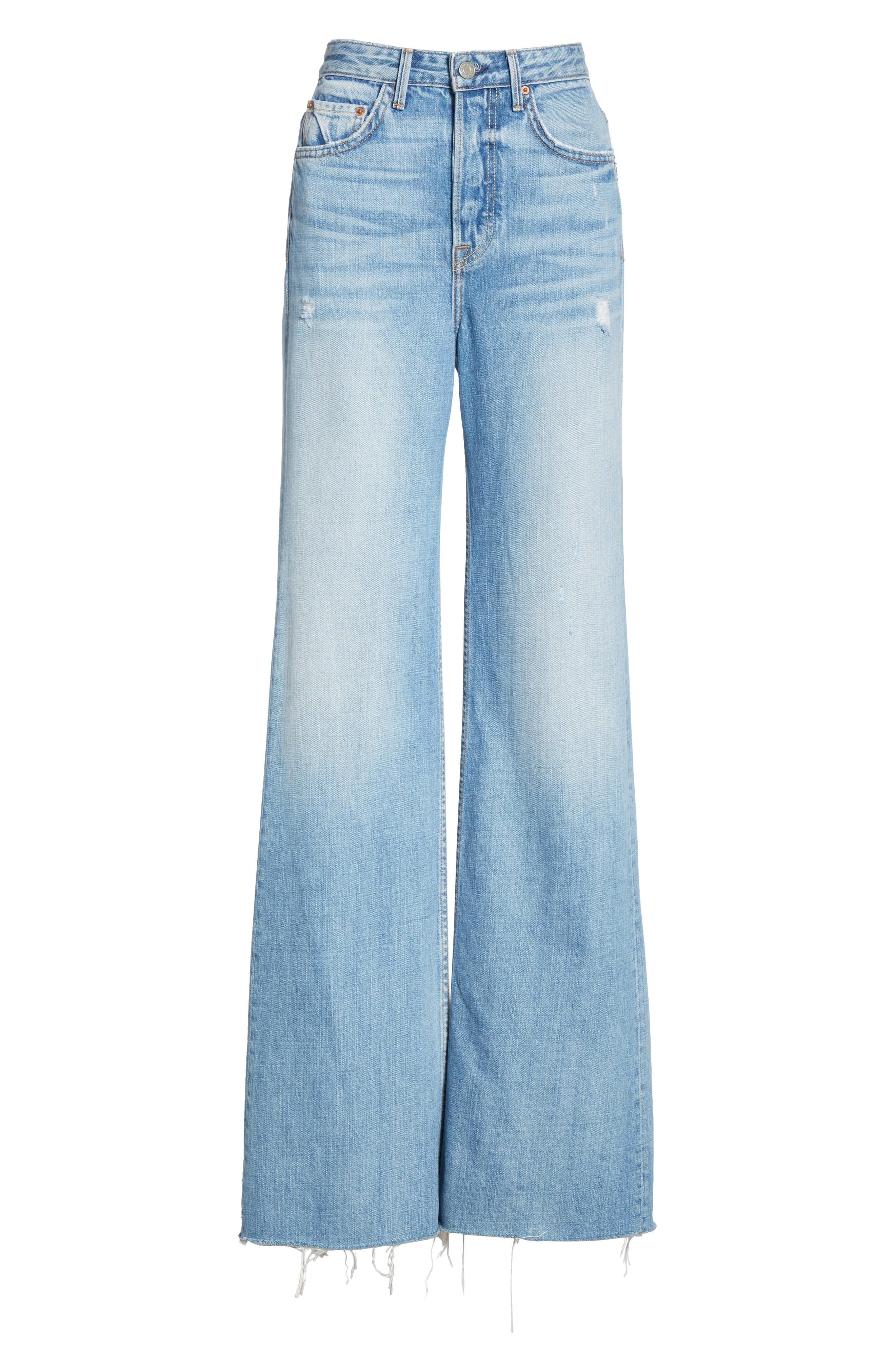 Carla Wide Leg Jeans,                             Alternate thumbnail 7, color,                             GONNA FLY NOW