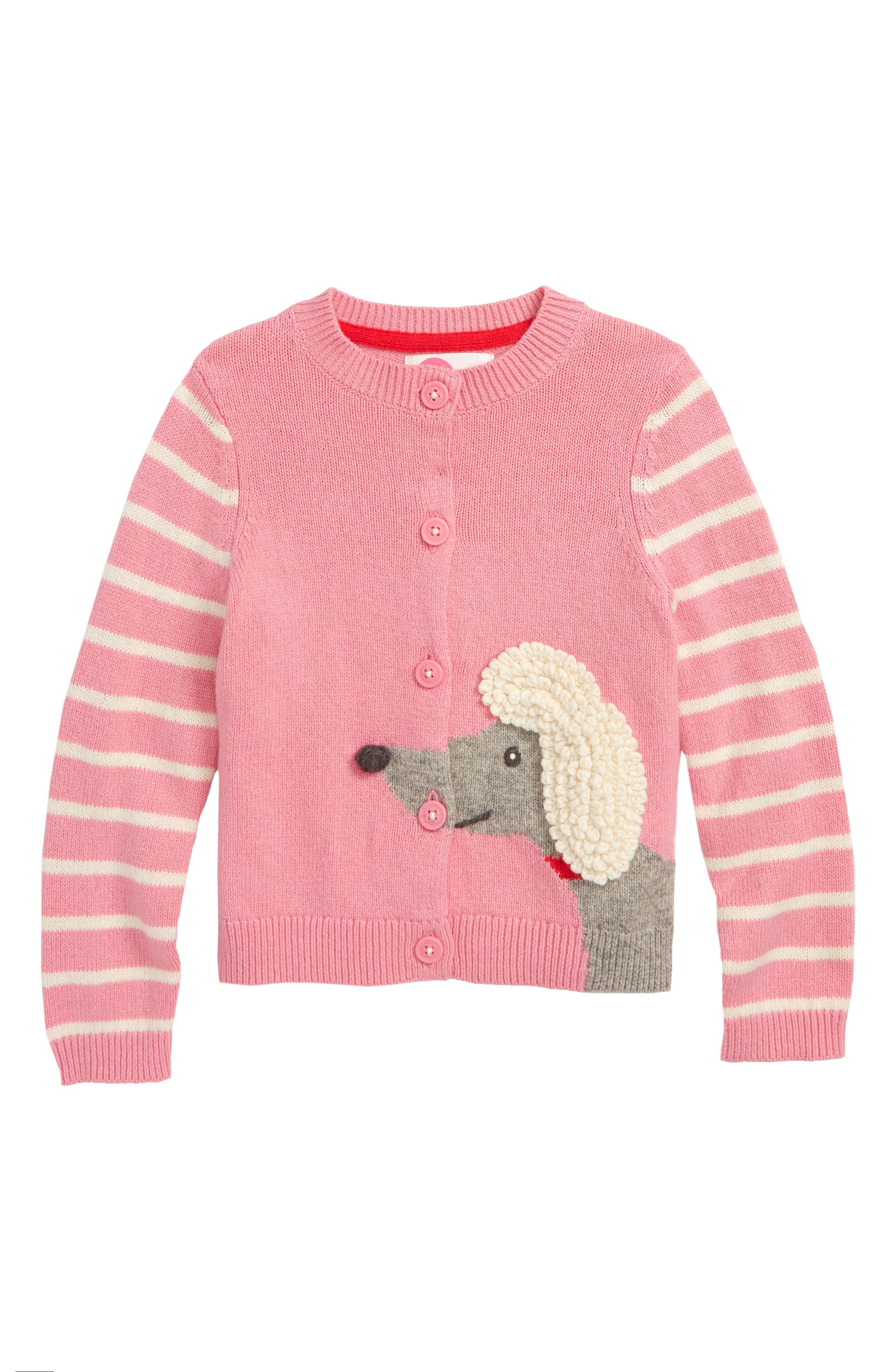 Pet Knit Cardigan,                         Main,                         color, PNK FORMICA PINK POODLE
