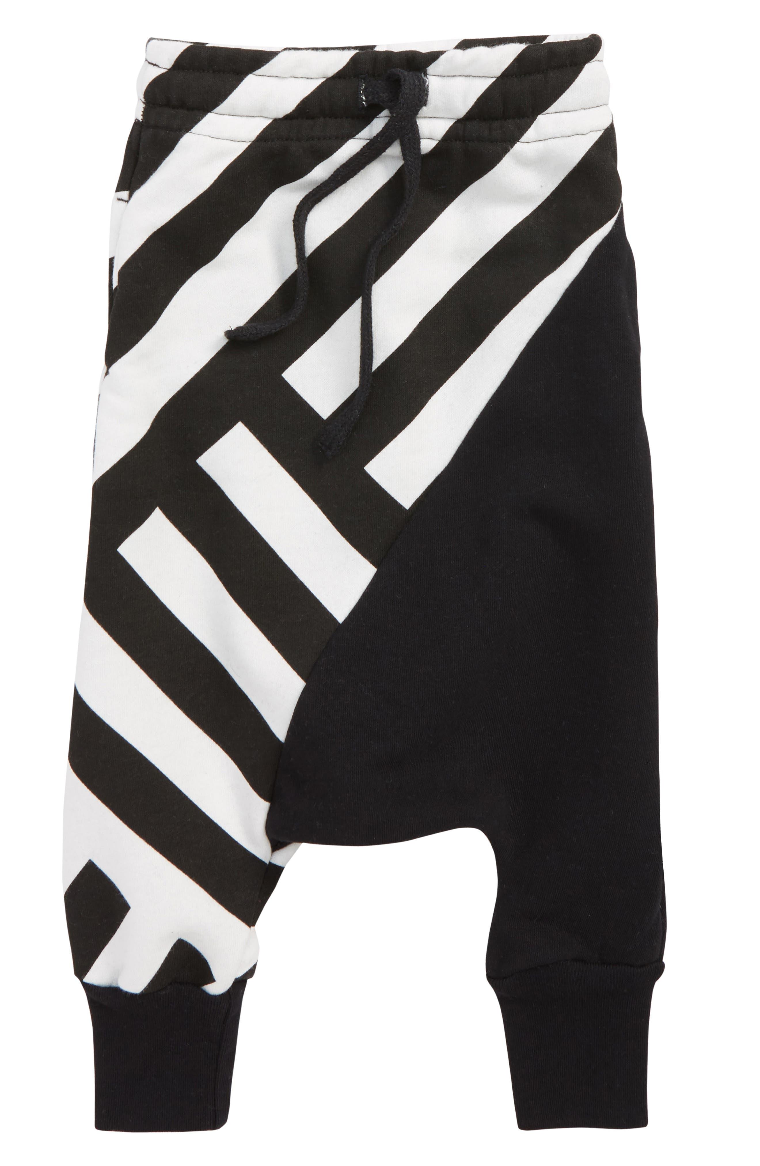 Stripe Baggy Pants,                             Main thumbnail 1, color,                             003