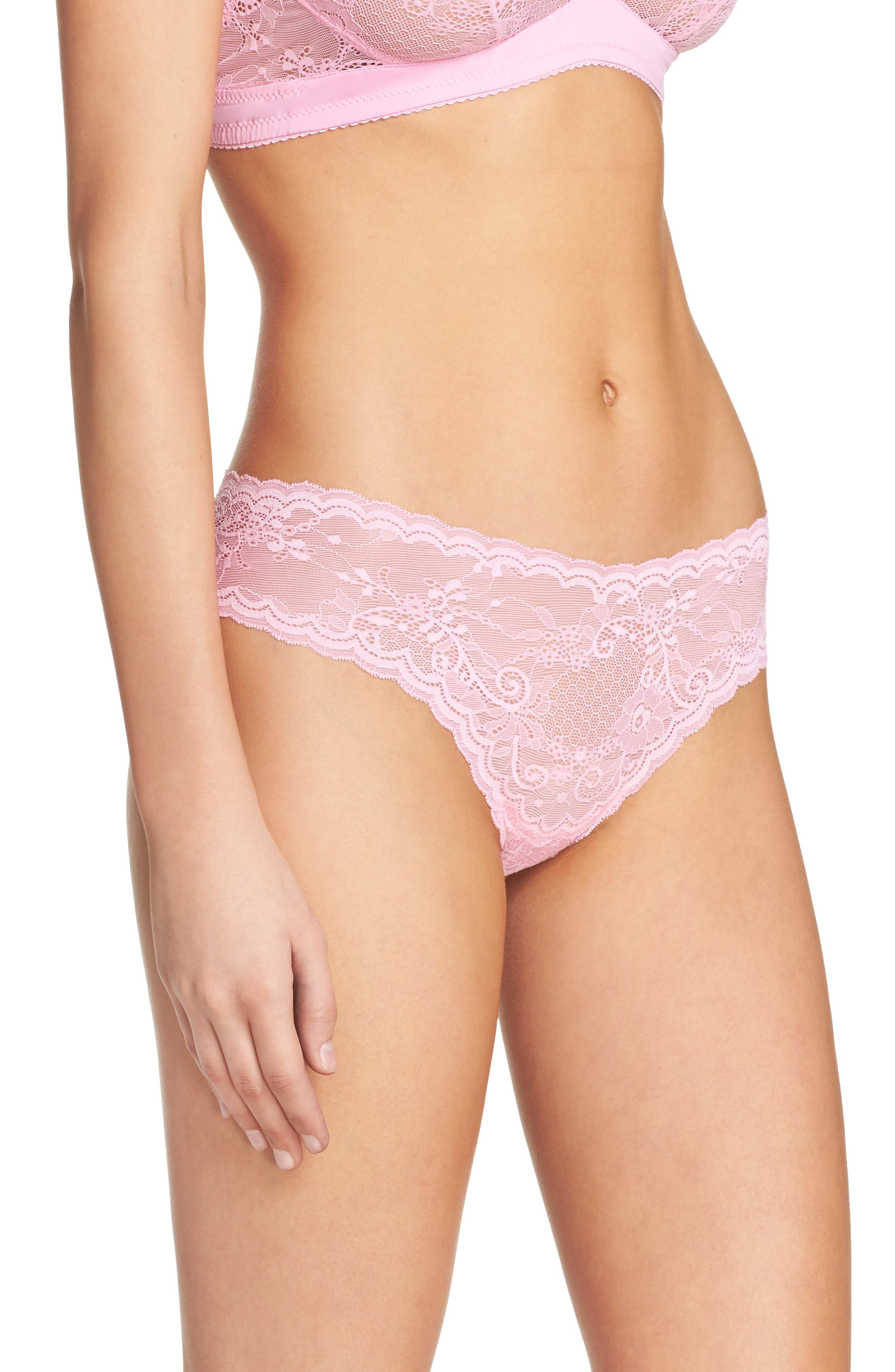 'Trenta' Low Rise Lace Thong,                             Alternate thumbnail 136, color,