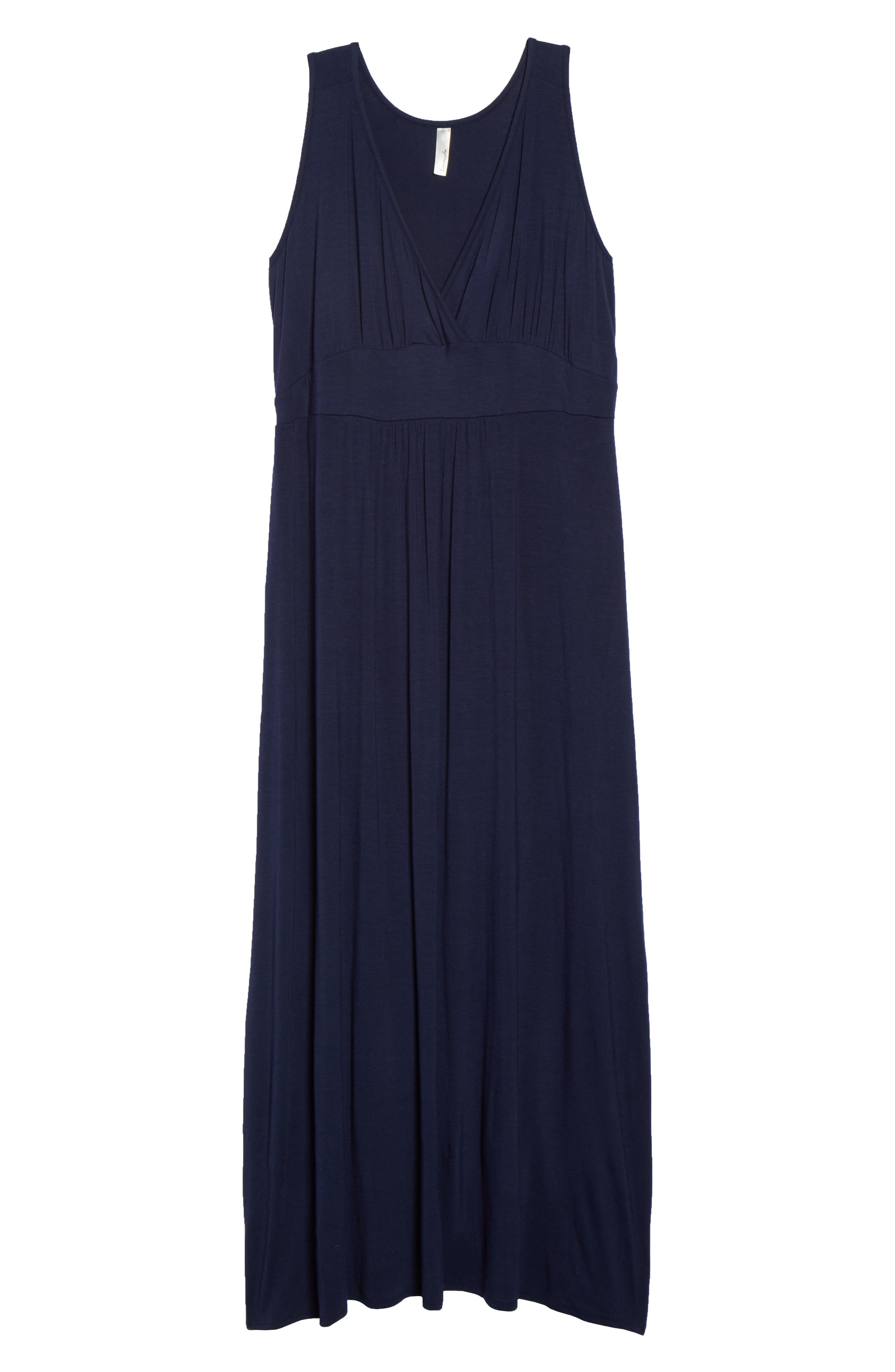 Surplice Maxi Dress,                             Alternate thumbnail 6, color,                             MIDNIGHT