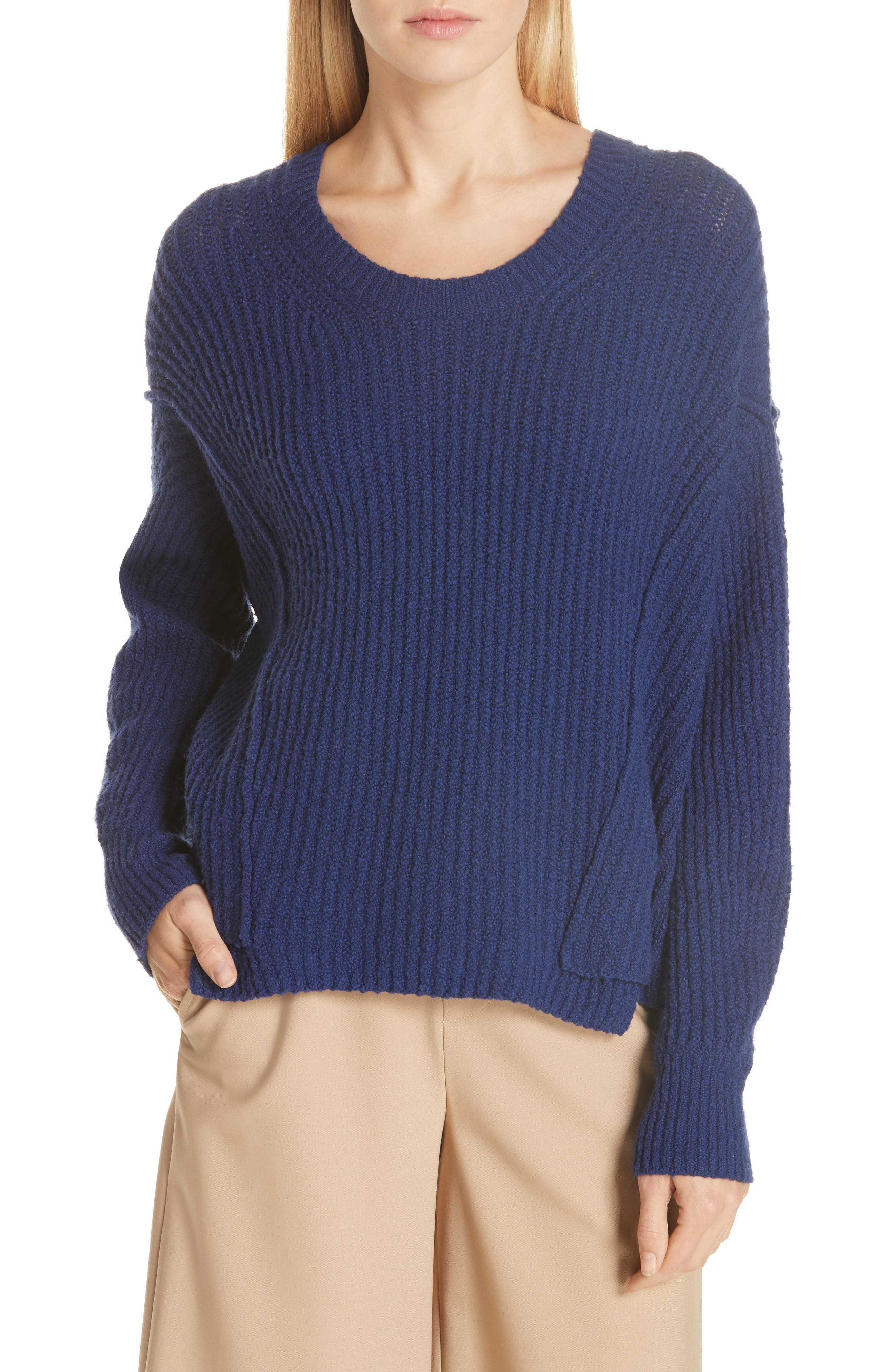 Overlap Panel Sweater,                             Main thumbnail 1, color,                             INK