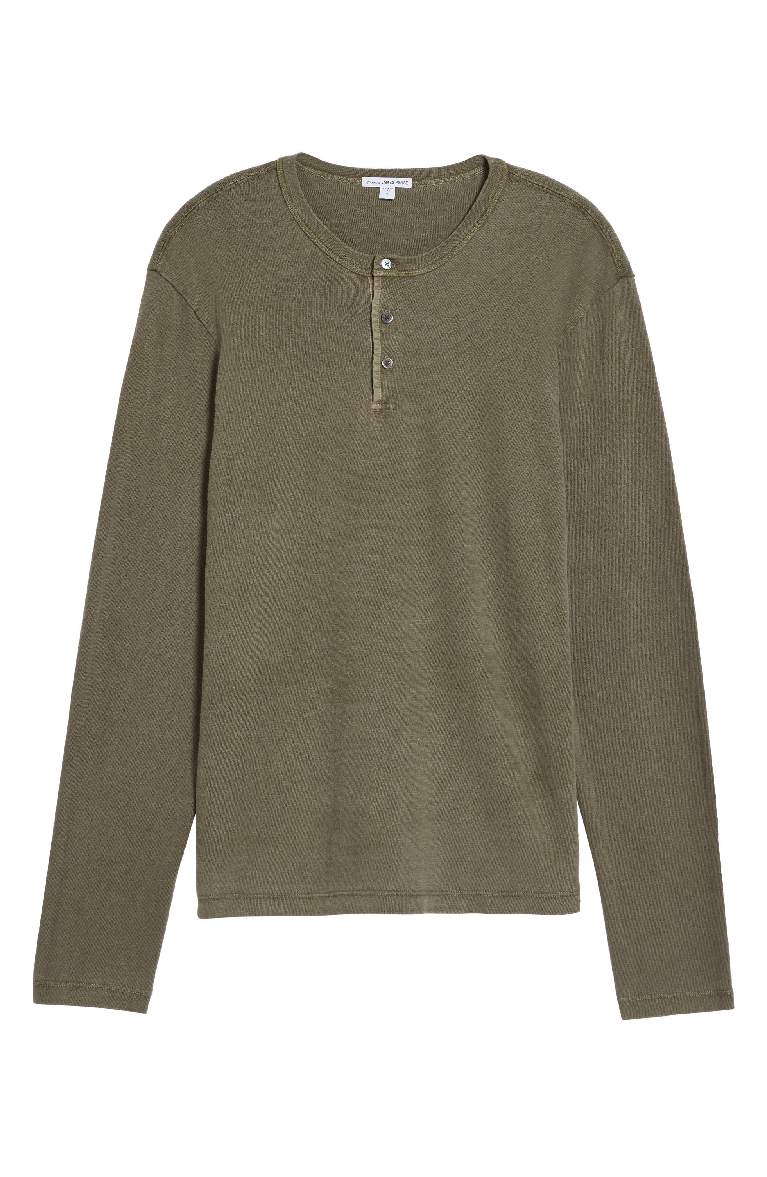 Long Sleeve Henley T-Shirt,                             Alternate thumbnail 17, color,