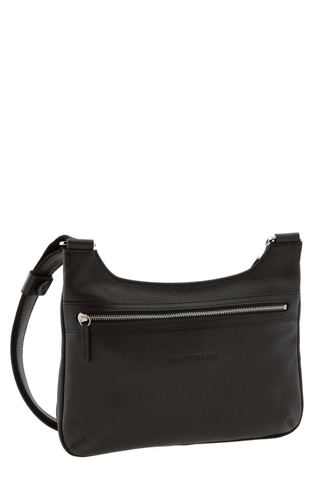 'Veau Foulonne' Crossbody Bag,                             Main thumbnail 1, color,                             002