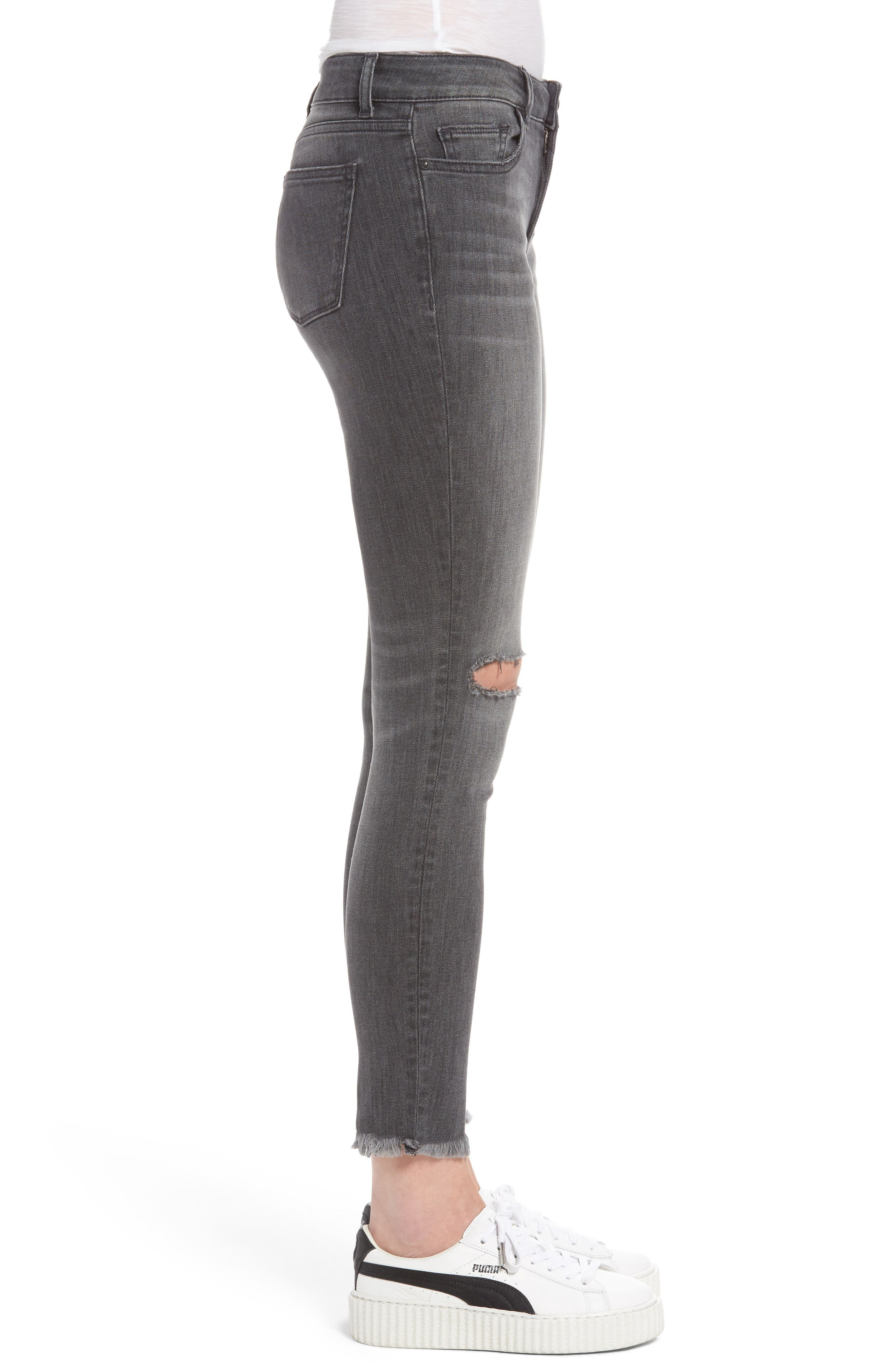 Margaux Ripped Ankle Skinny Jeans,                             Alternate thumbnail 3, color,                             032
