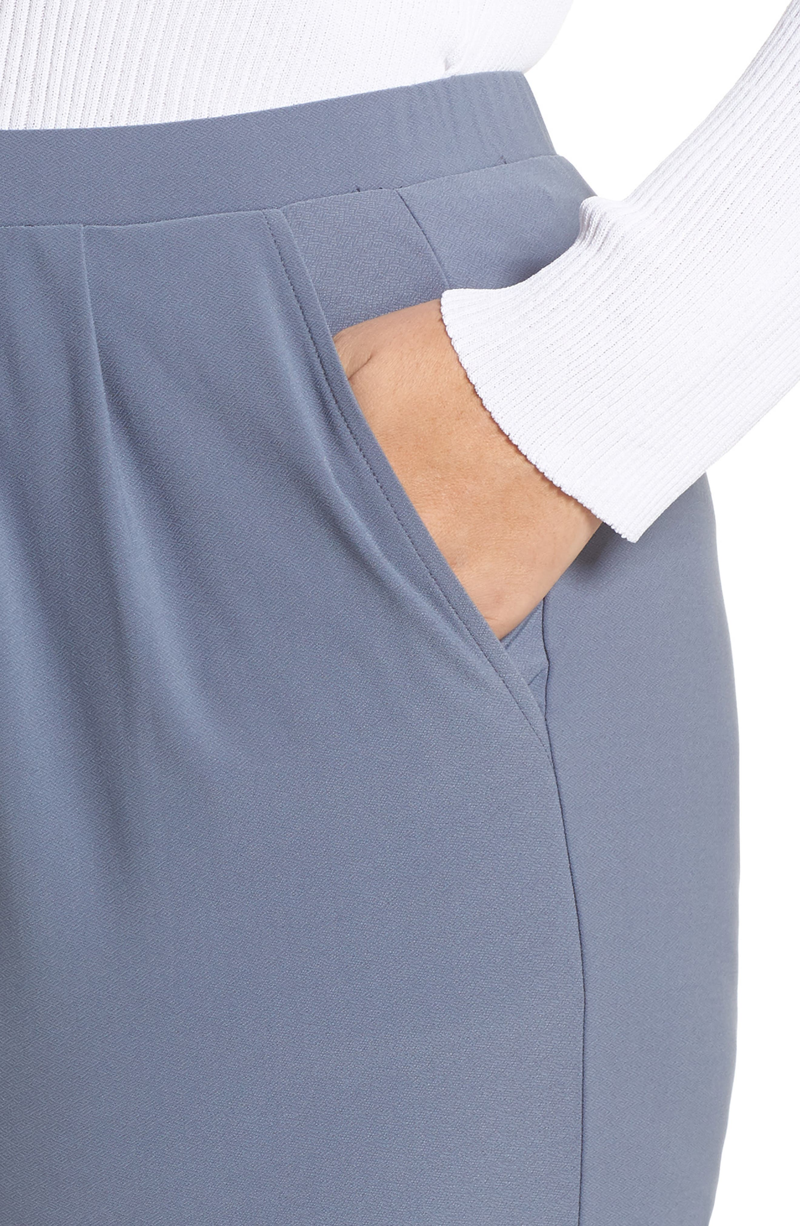 High Rise Pleated Pants,                             Alternate thumbnail 4, color,                             GREY GRISAILLE
