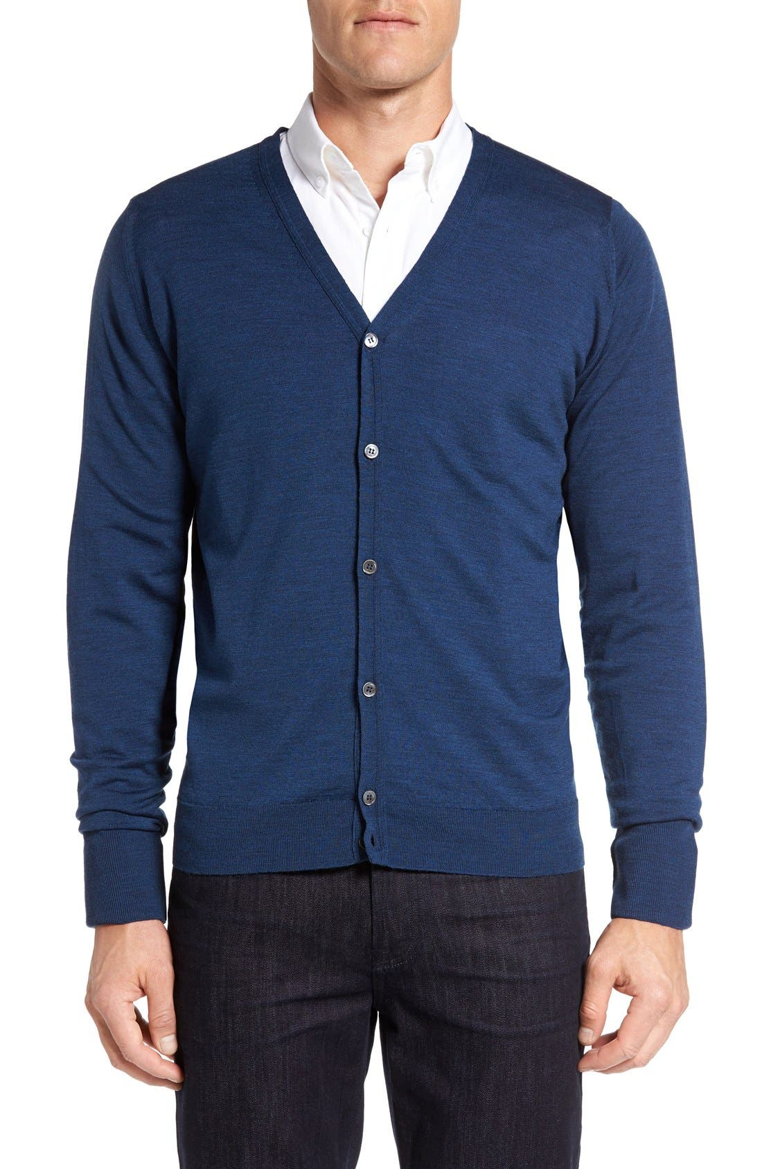 'Bryn' Easy Fit Wool Button Cardigan,                         Main,                         color, 403