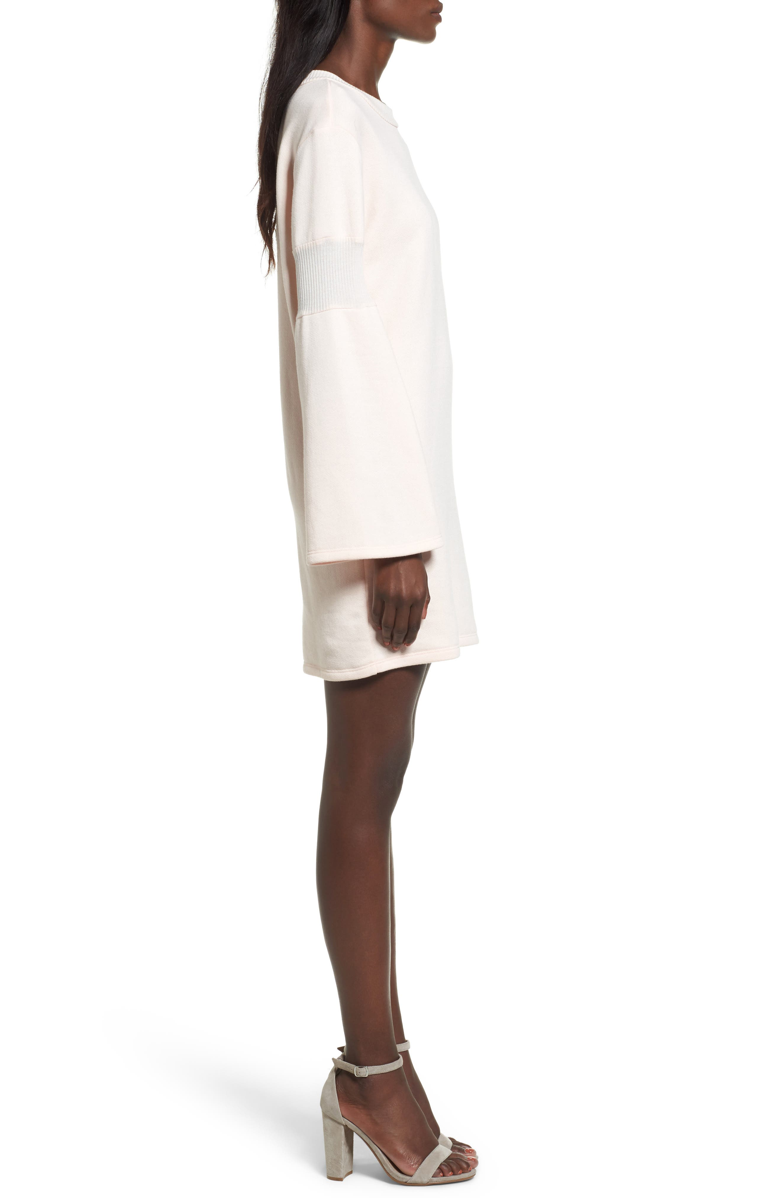 Bell Sleeve Sweatshirt Dress,                             Alternate thumbnail 6, color,