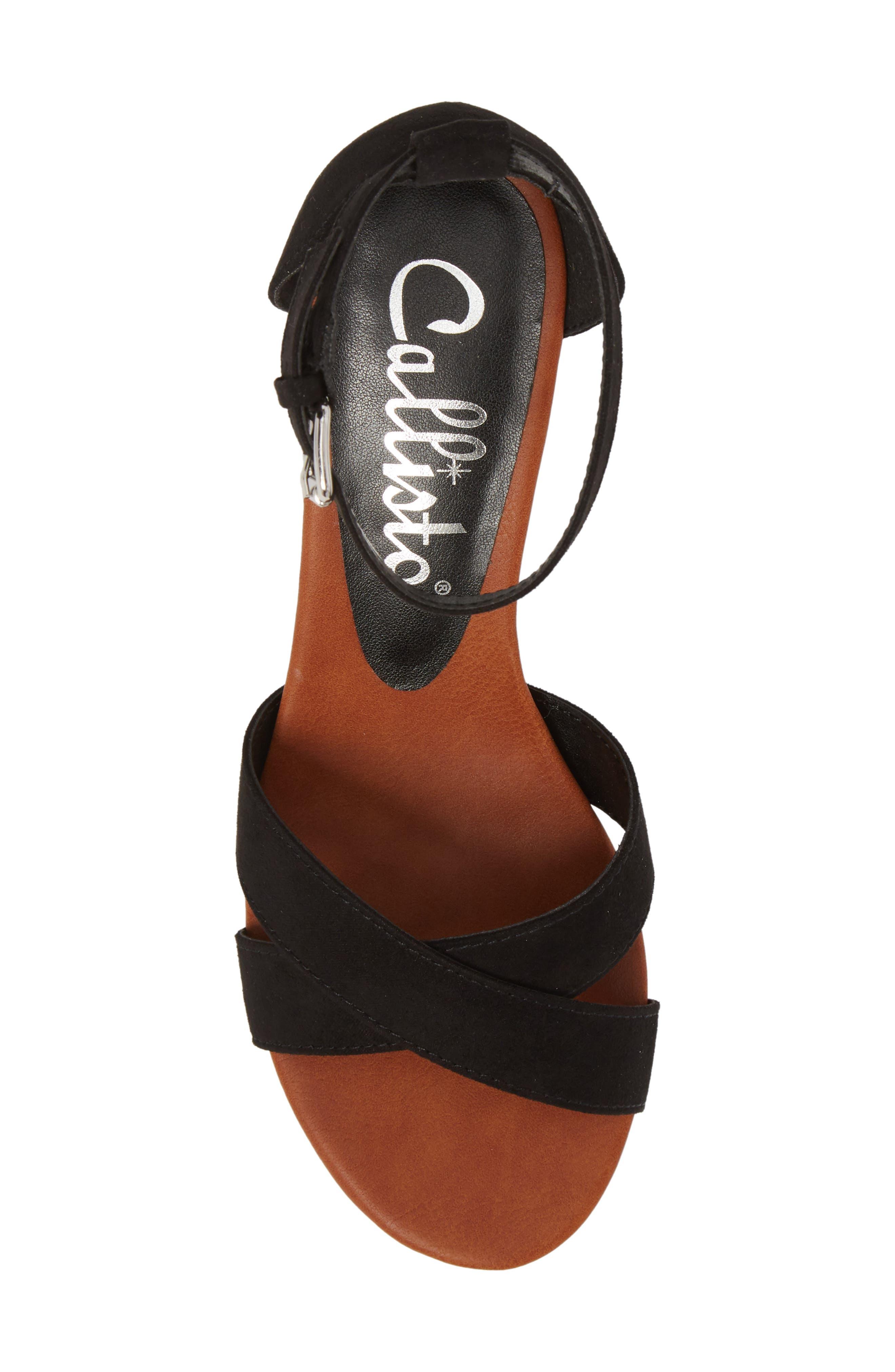 Strobe Wedge Sandal,                             Alternate thumbnail 5, color,                             003