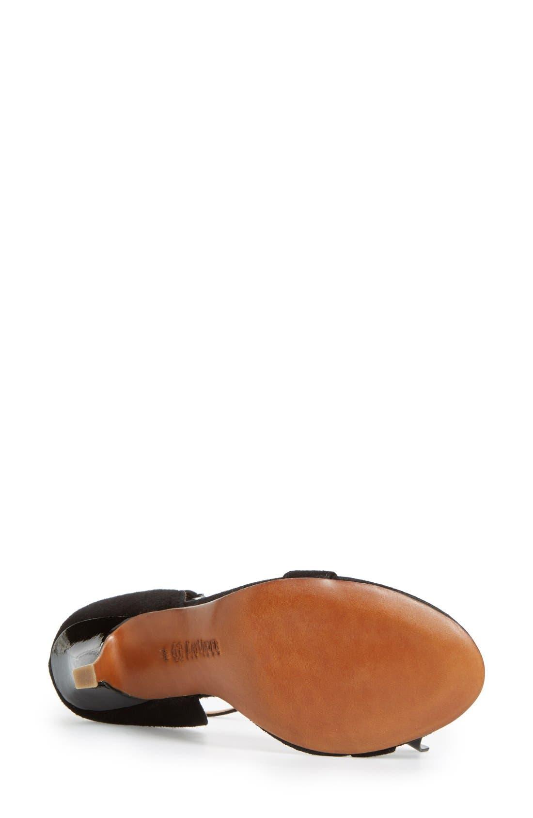 'Baroque' Ankle Strap Sandal,                             Alternate thumbnail 3, color,                             001