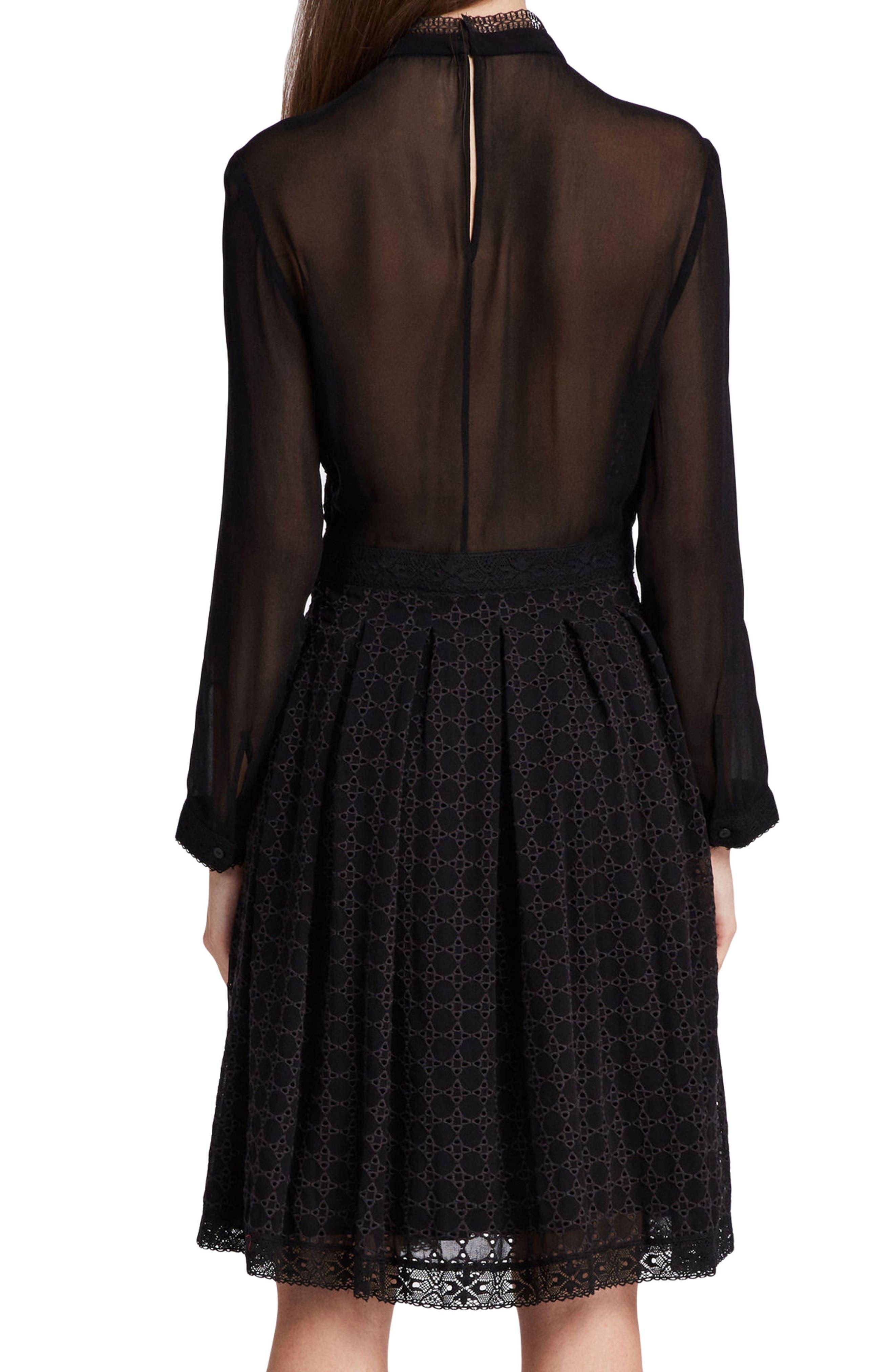 ALLSAINTS,                             Lilith Dress,                             Alternate thumbnail 8, color,                             001