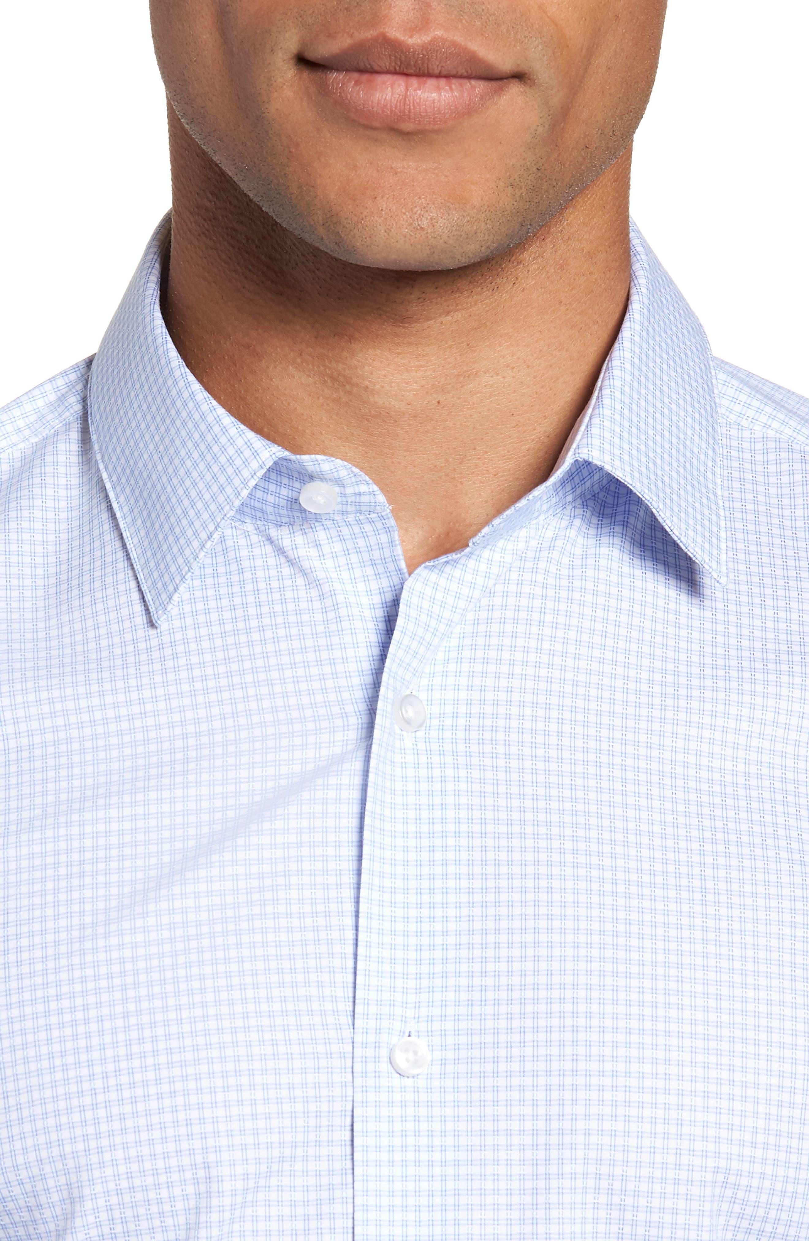 Isko Slim Fit Stretch Check Dress Shirt,                             Alternate thumbnail 2, color,                             450