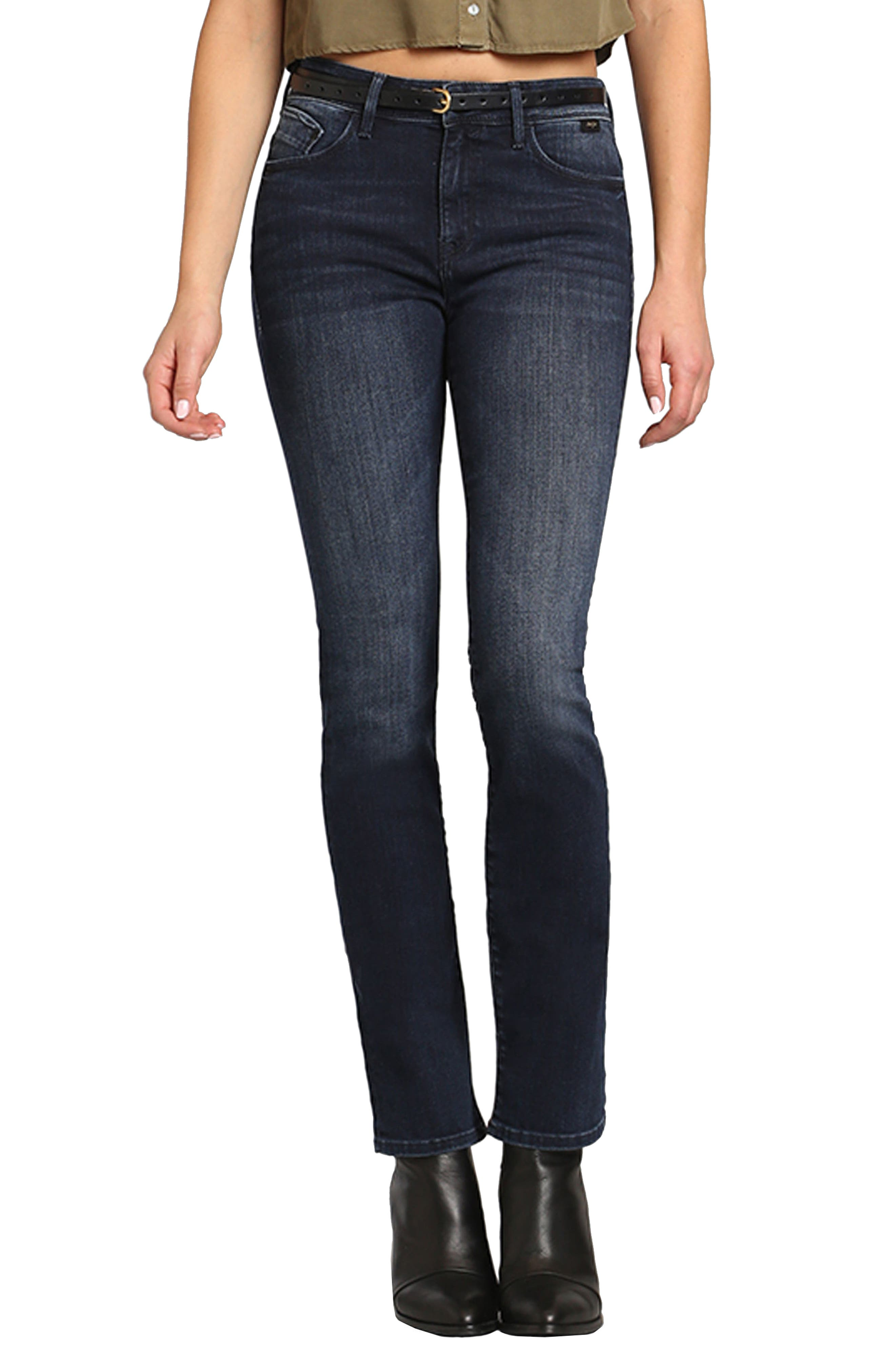 Kendra High Waist Straight Jeans,                             Main thumbnail 1, color,