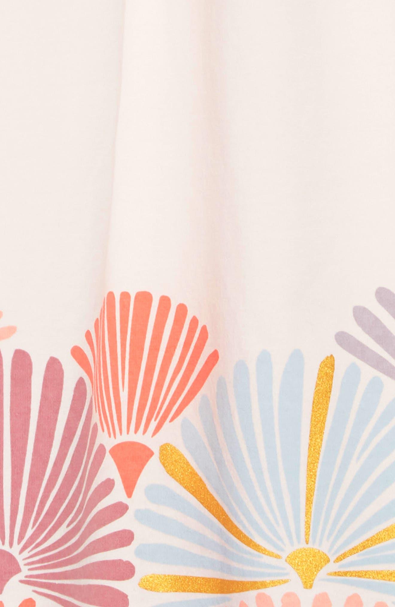 TEA COLLECTION,                             Graphic Trapeze Dress,                             Alternate thumbnail 3, color,                             SILKWORM