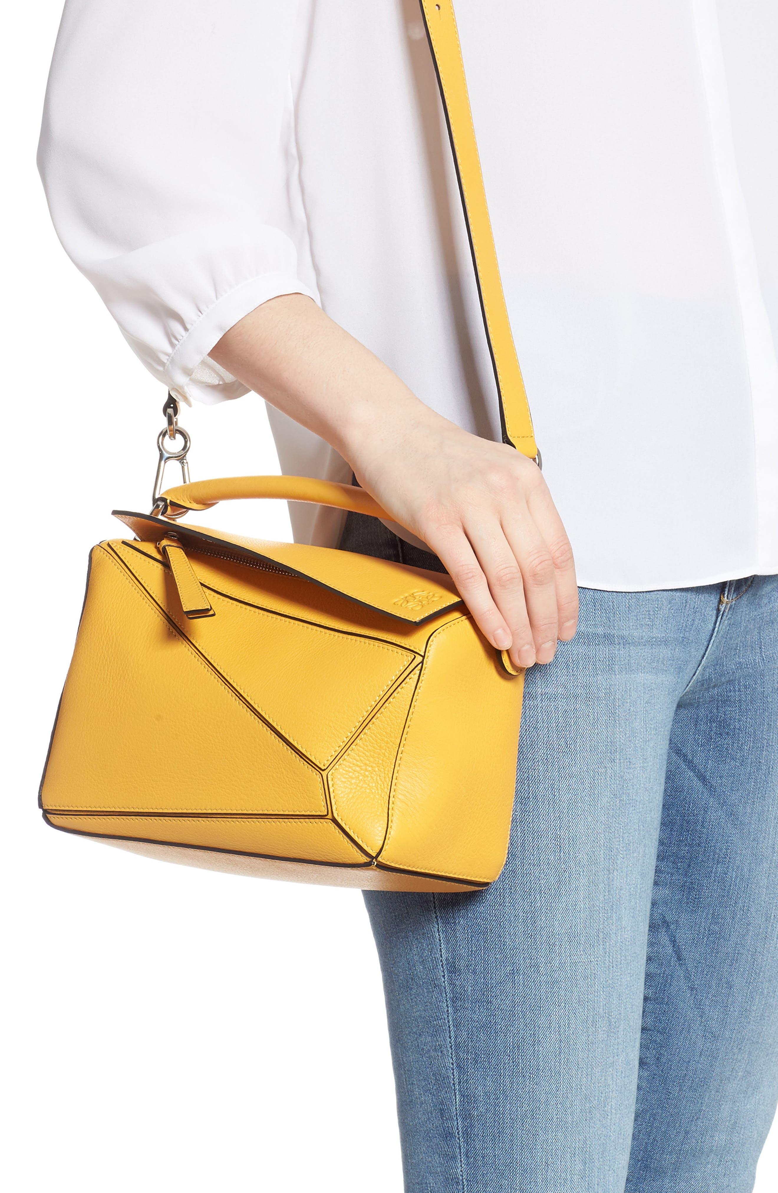 LOEWE,                             Small Puzzle Shoulder Bag,                             Alternate thumbnail 2, color,                             YELLOW MANGO