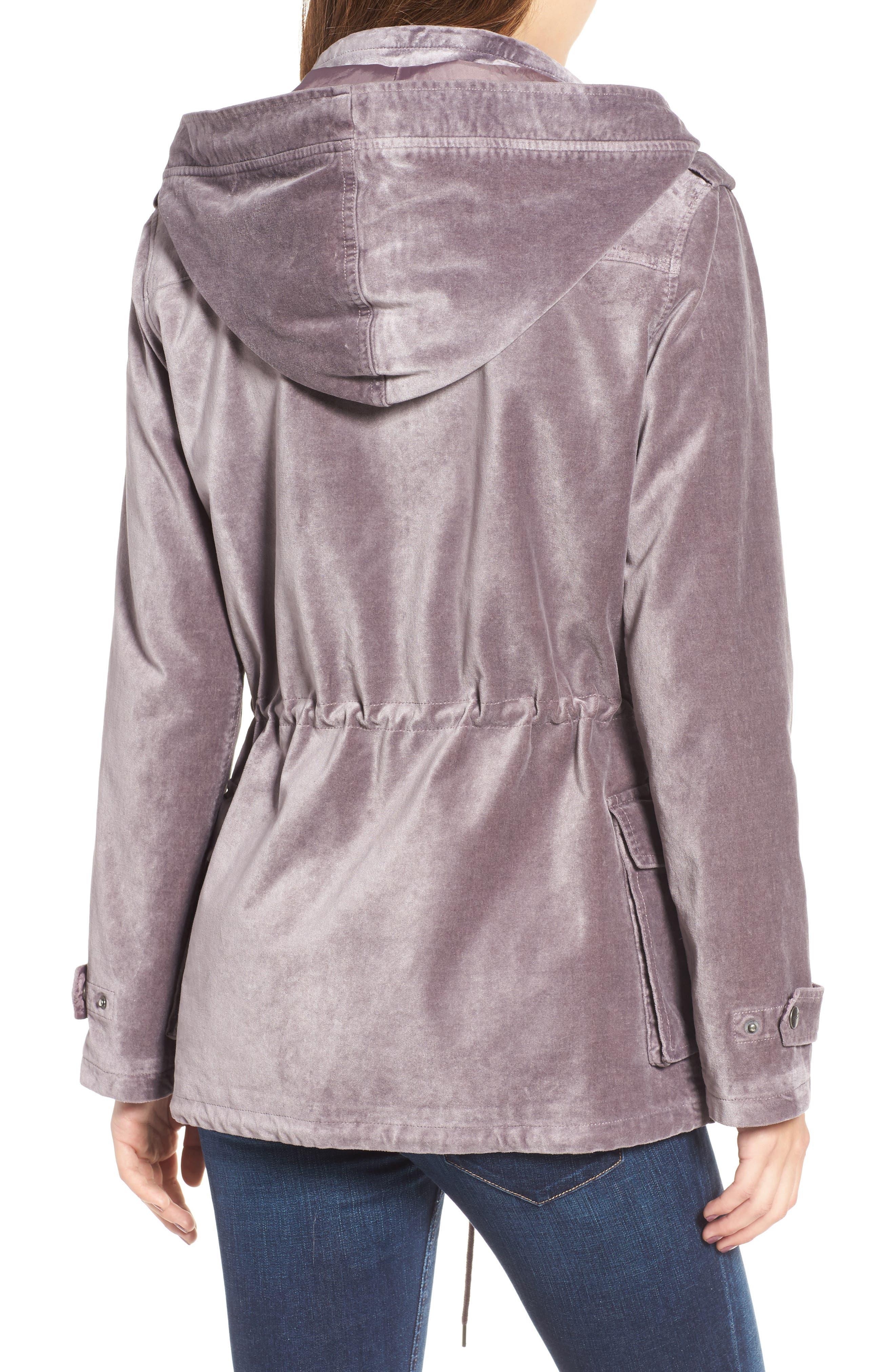 BNCI Cotton Velveteen Hooded Anorak Jacket,                             Alternate thumbnail 4, color,