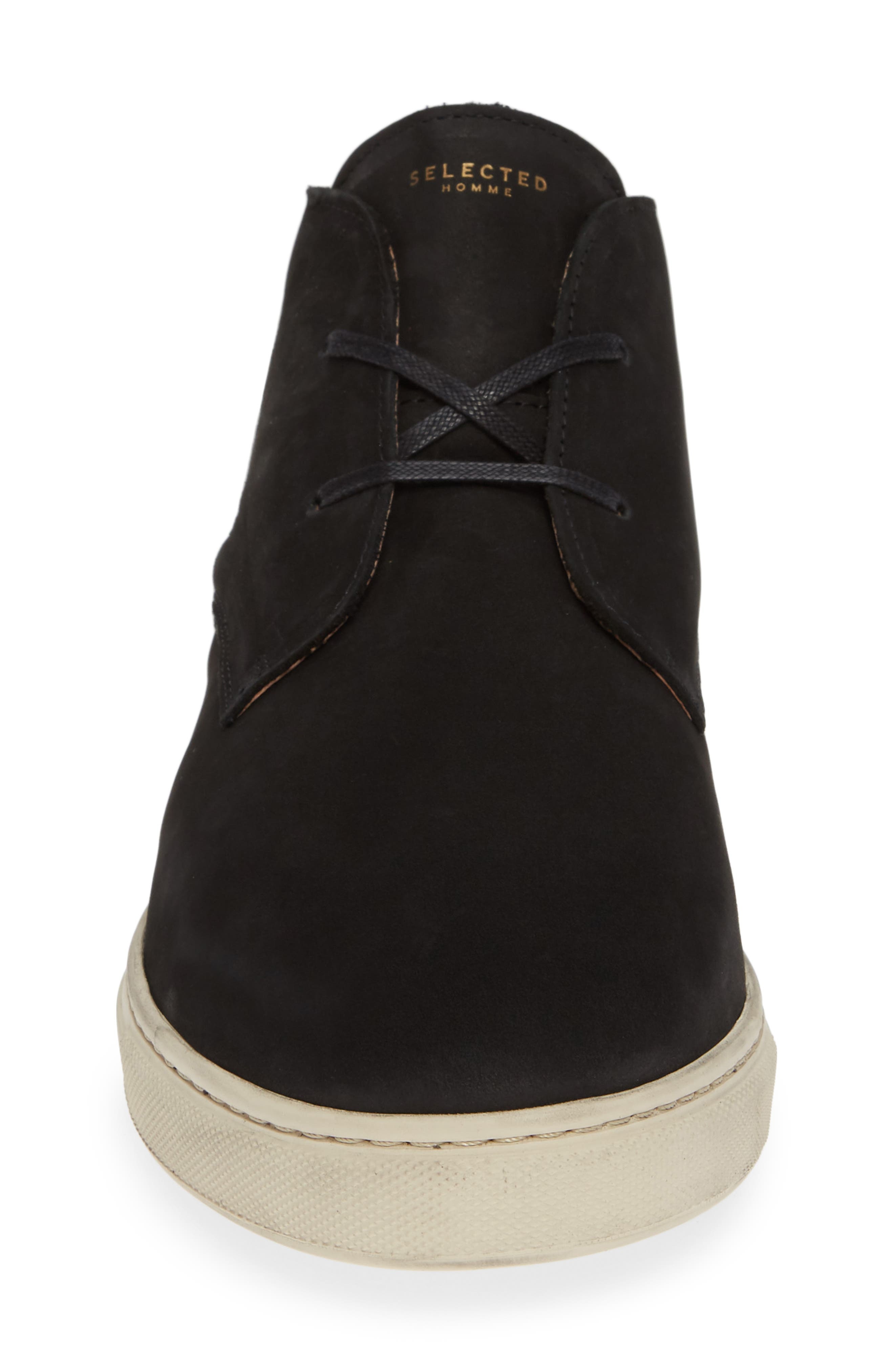 Dempsey Chukka Sneaker,                             Alternate thumbnail 4, color,                             BLACK