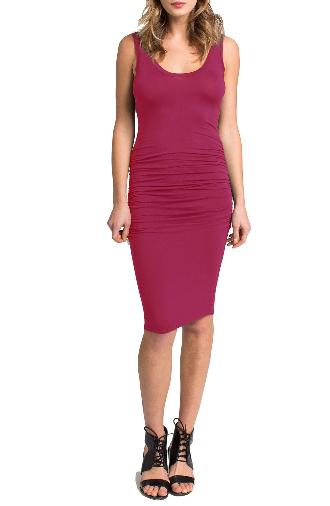 'Frankie' Ruched Tank Dress,                             Main thumbnail 4, color,