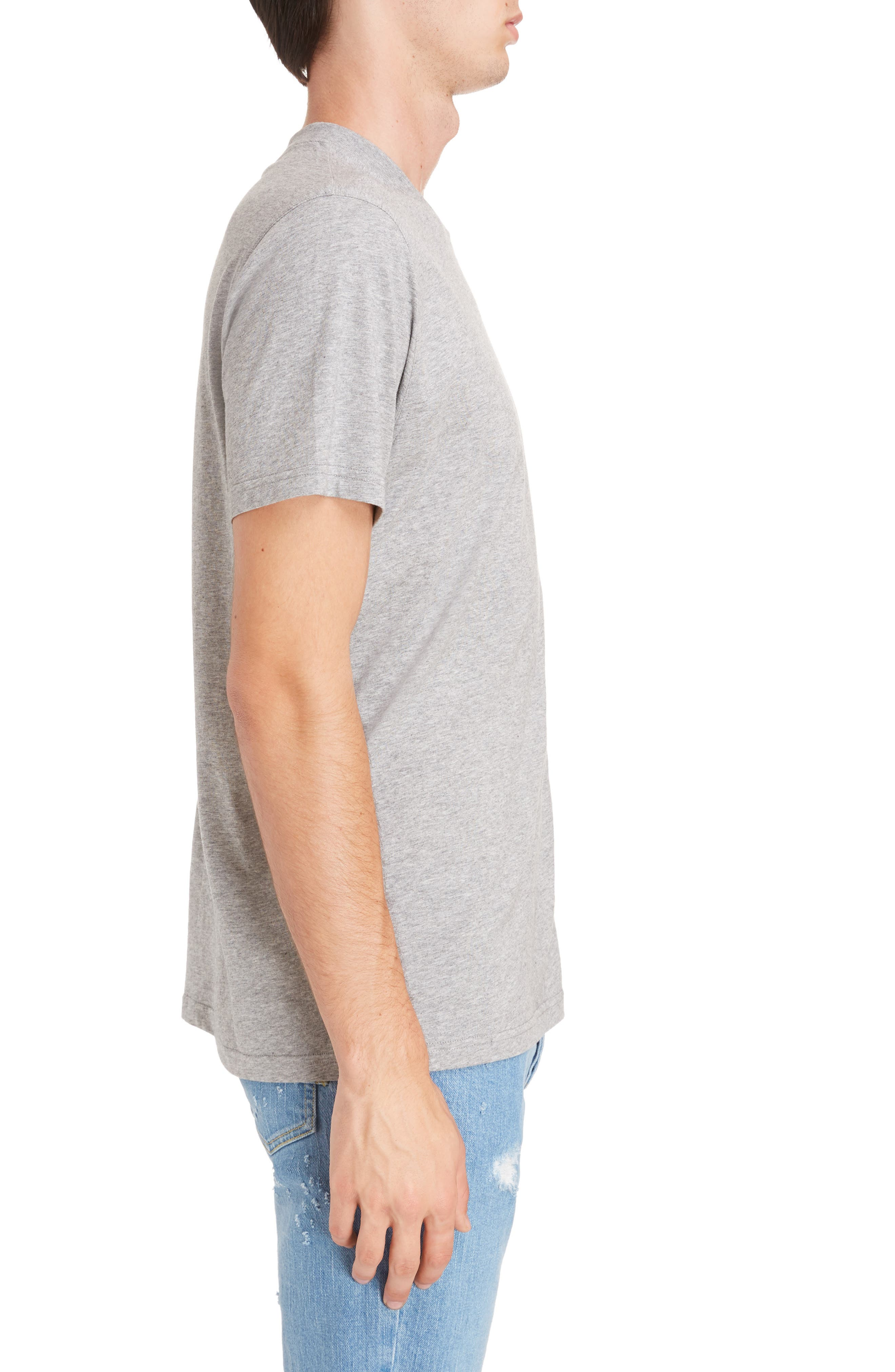 Bimaterial Colorblock T-Shirt with Zip Detail,                             Alternate thumbnail 3, color,