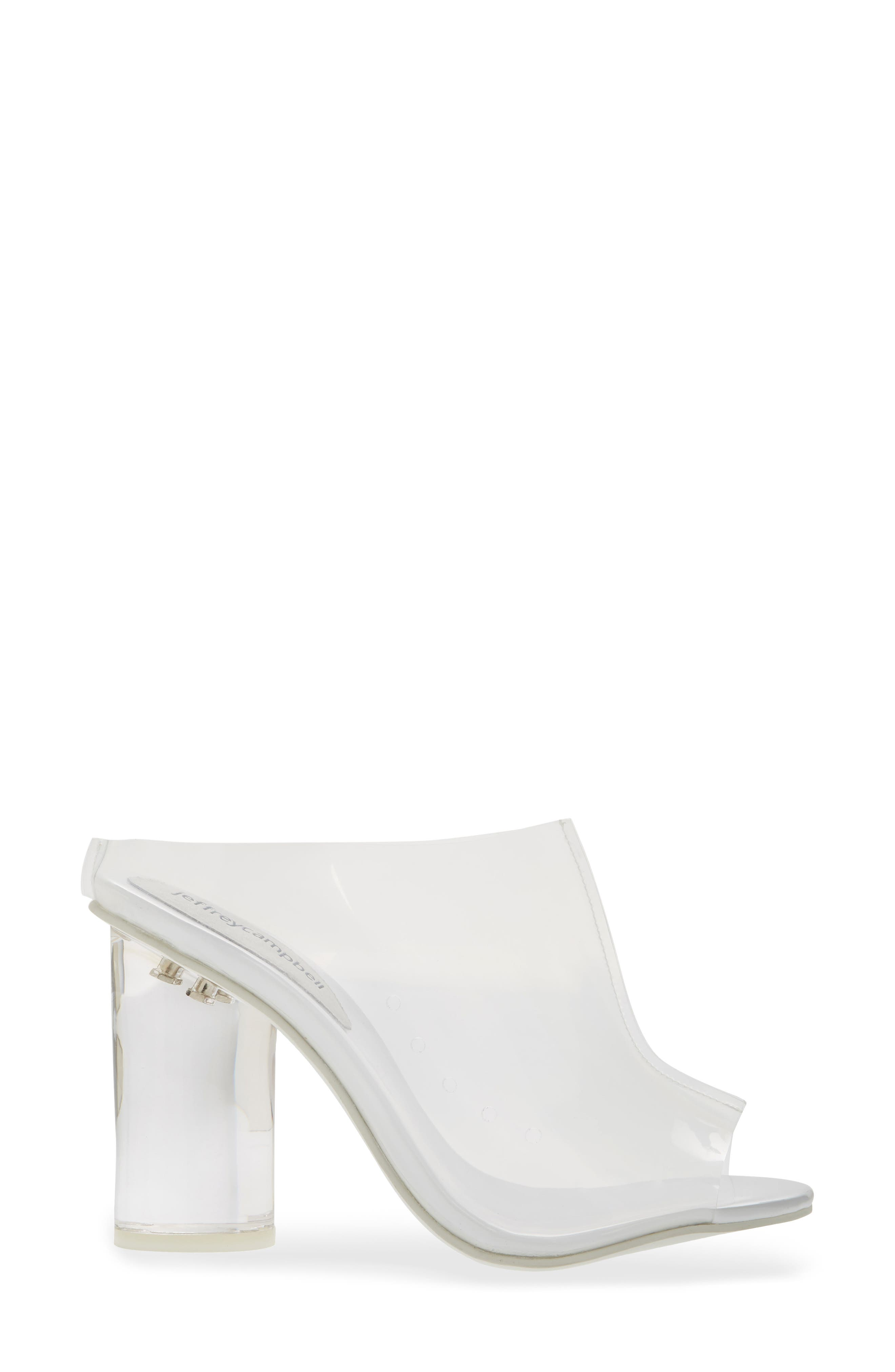 Divinity Column Heel Mule,                             Alternate thumbnail 3, color,                             CLEAR