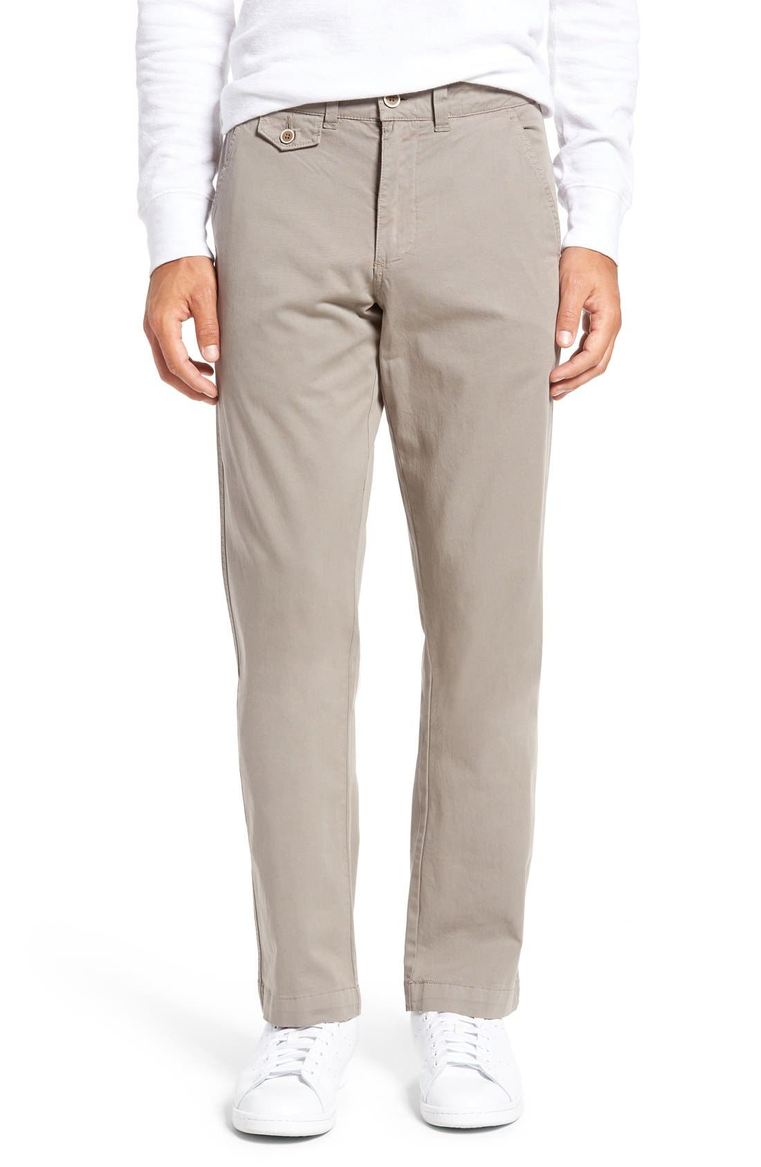 Sunny Modern Fit Stretch Twill Chinos,                             Main thumbnail 1, color,                             DUSTY SILVER