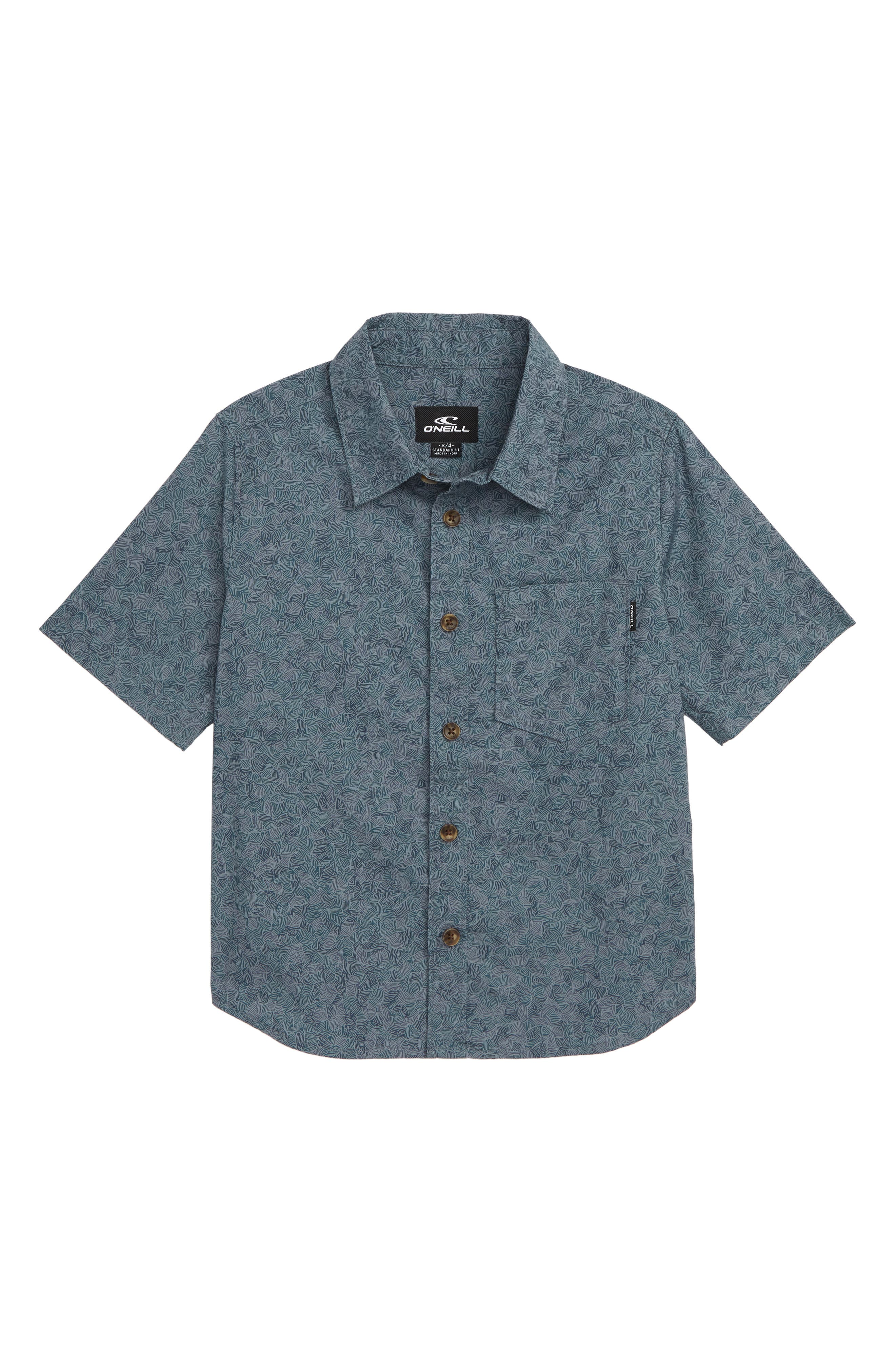 Structure Woven Shirt,                         Main,                         color, DARK BLUE