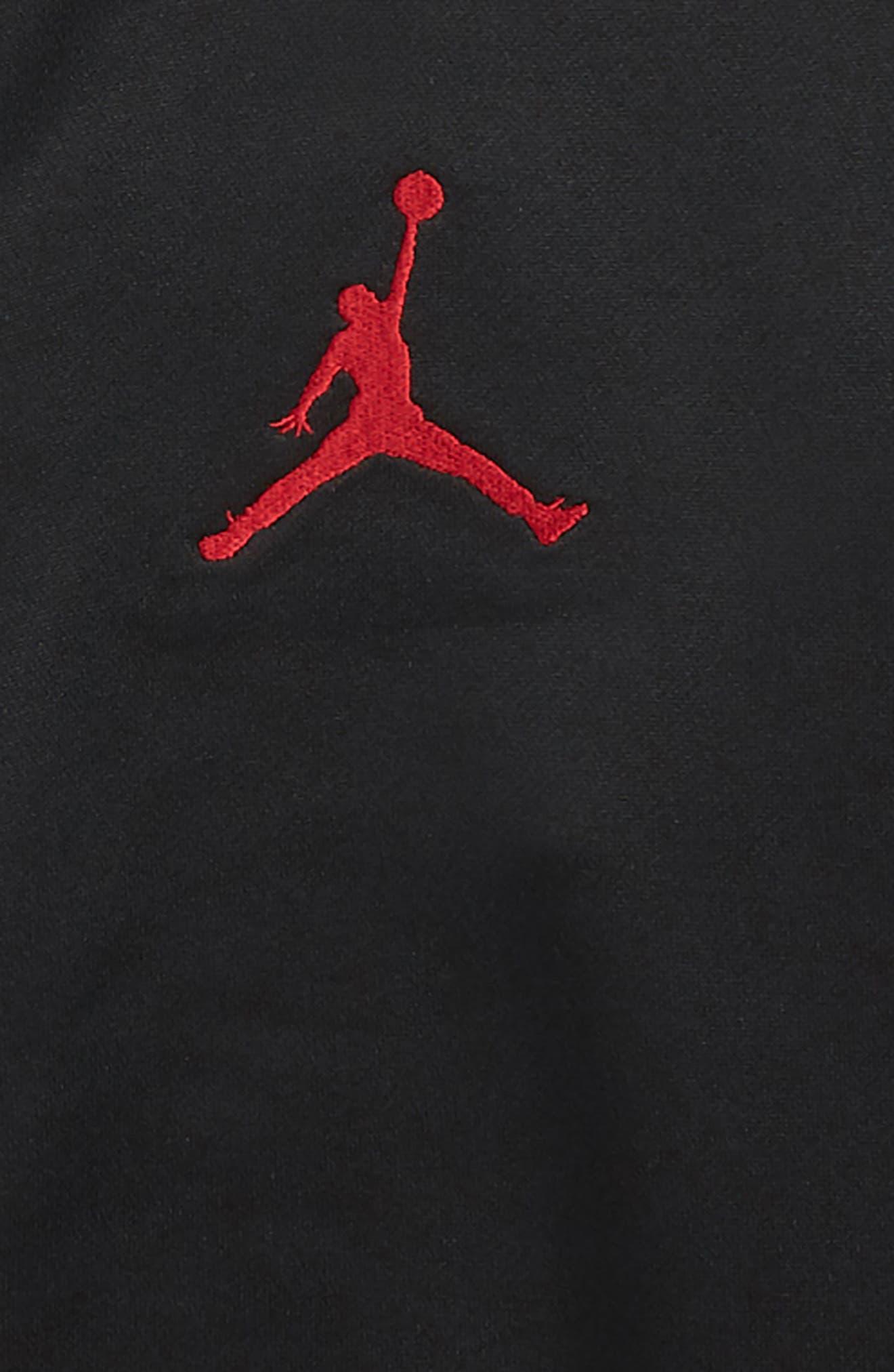 Jordan Celebrity Air Jordan Track Jacket,                             Alternate thumbnail 3, color,                             BLACK