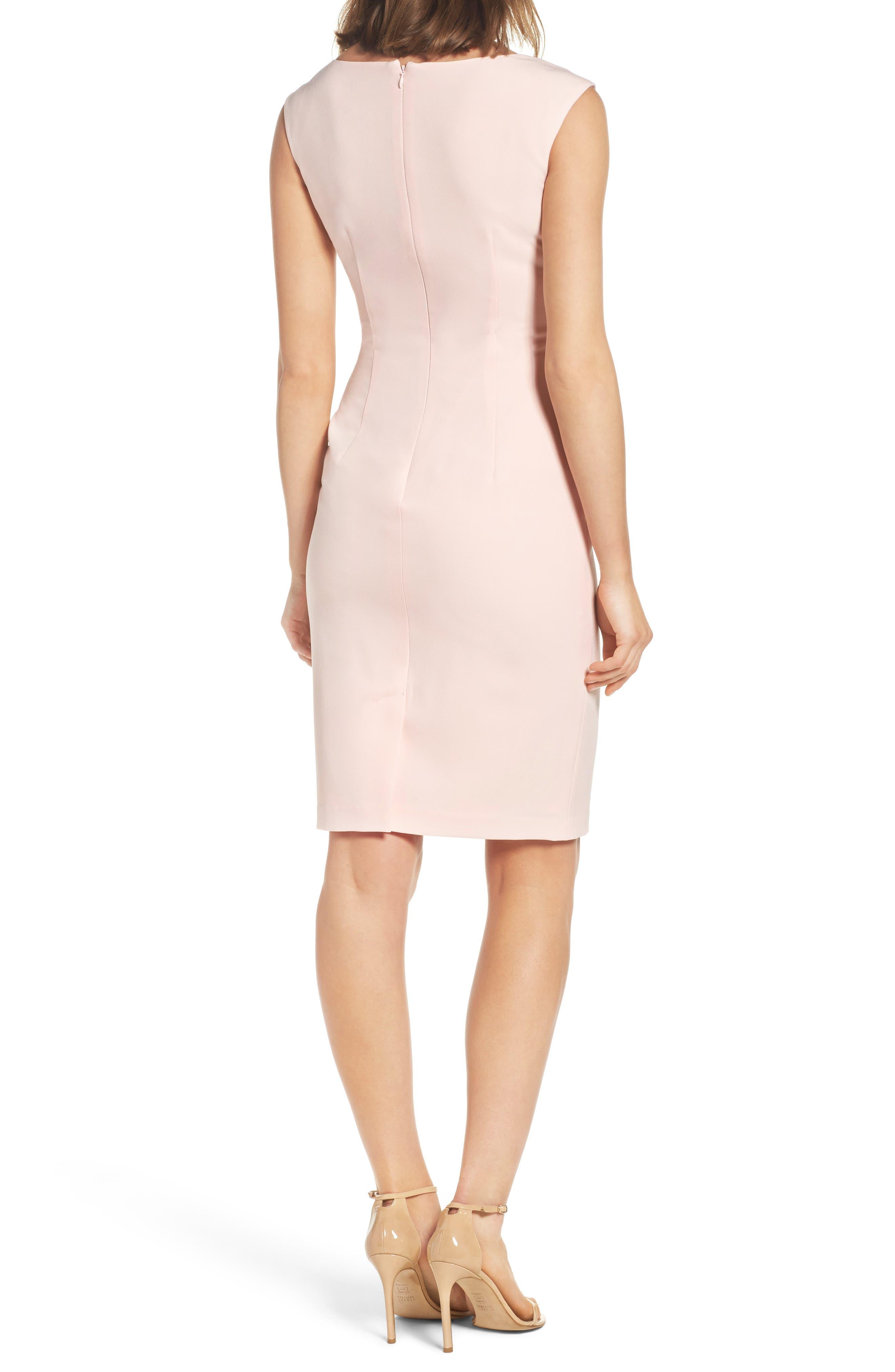 Crepe Sheath Dress,                             Alternate thumbnail 4, color,