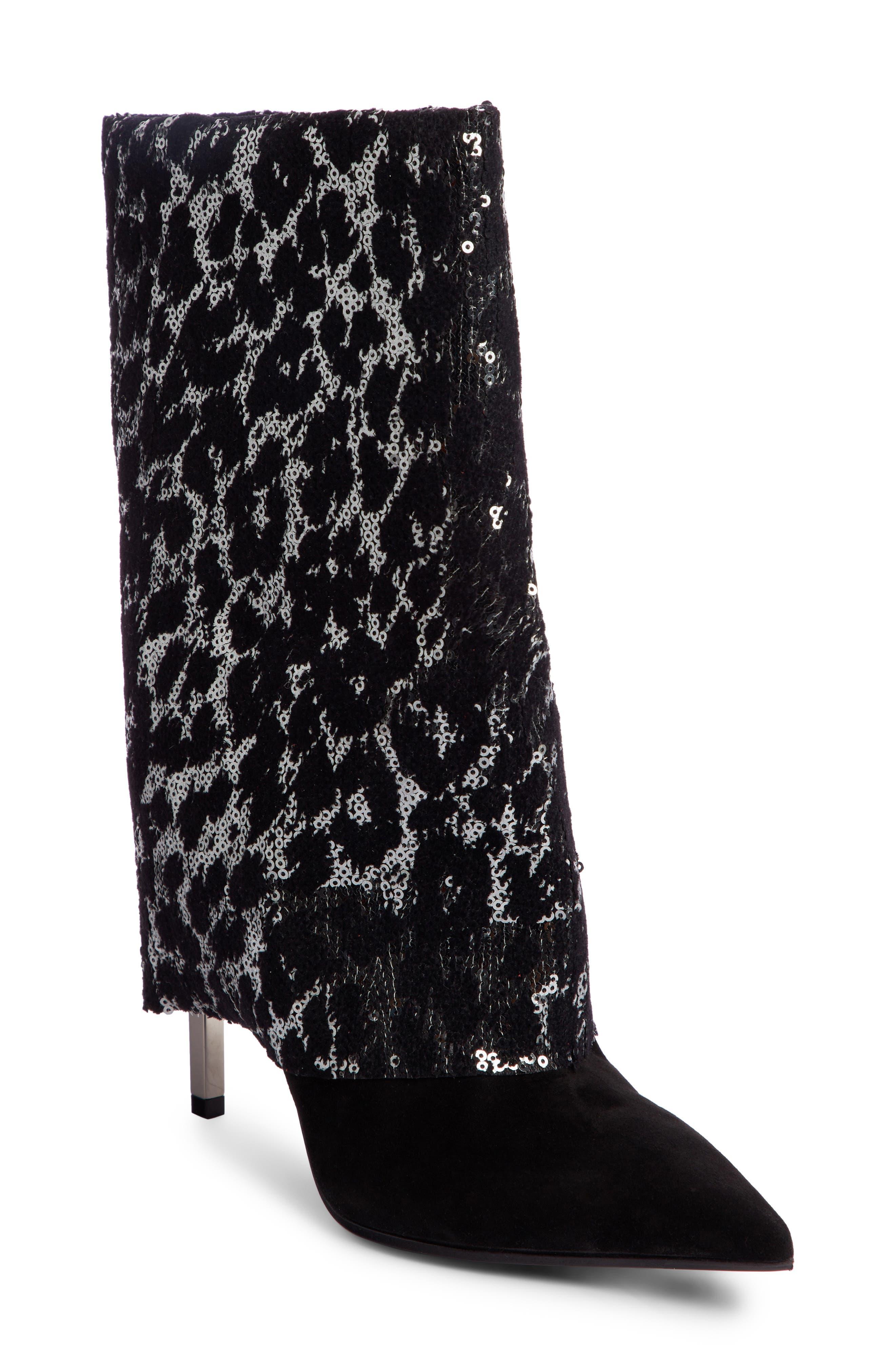 Babette Sequin Leopard Print Bootie by Balmain