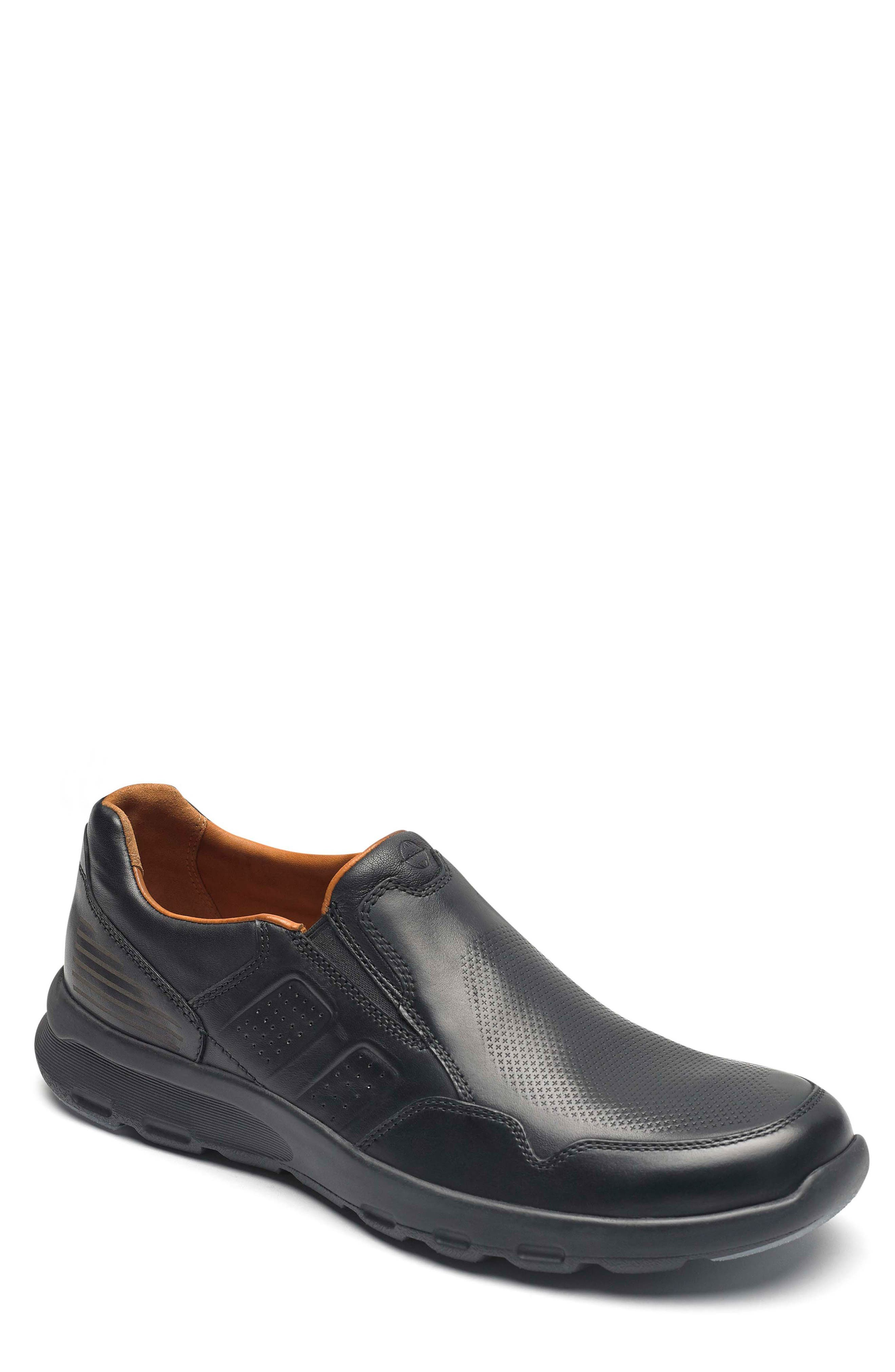 Let's Walk<sup>®</sup> Venetian Loafer,                             Main thumbnail 1, color,                             BLACK LEATHER