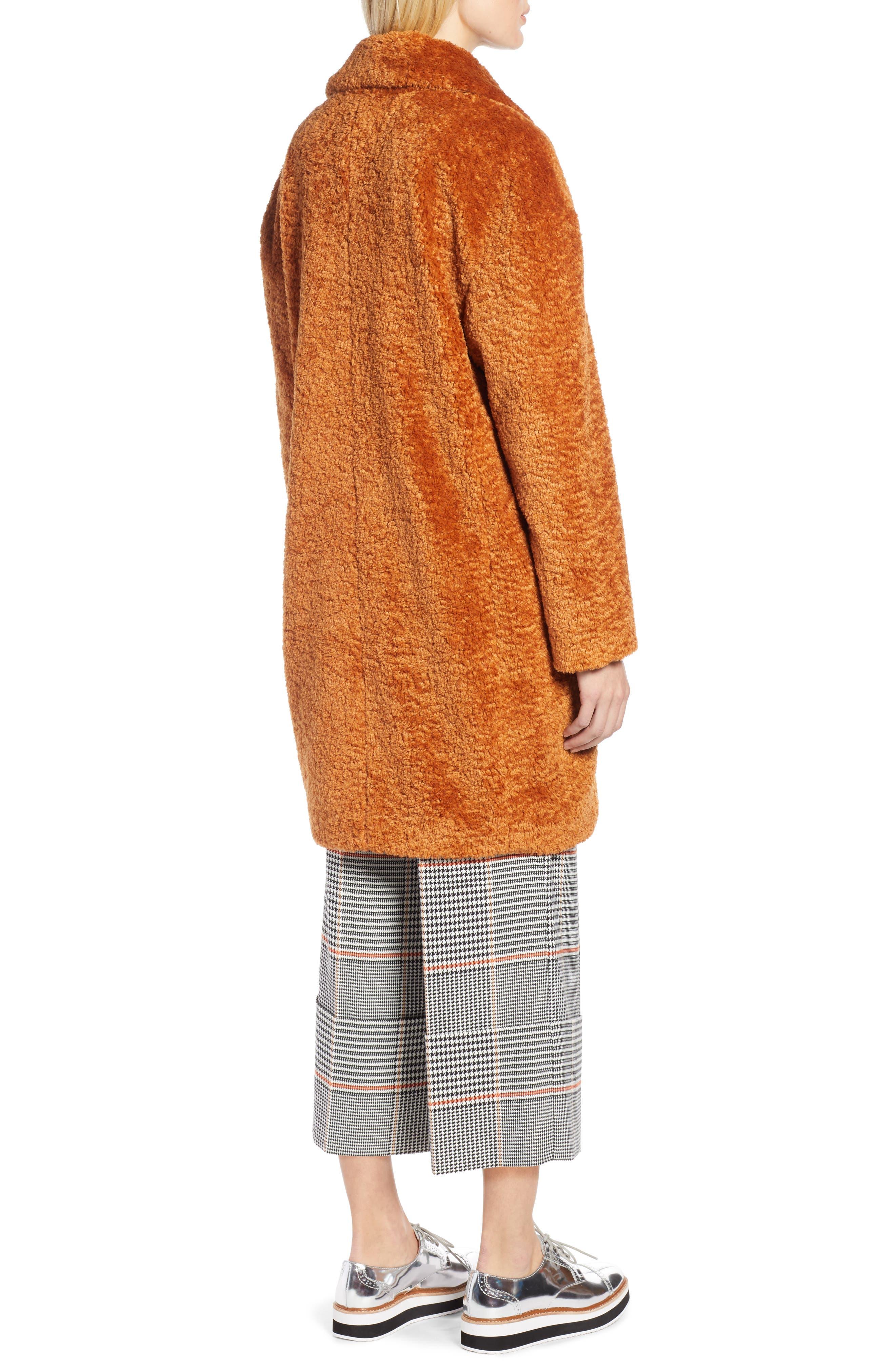 x Atlantic-Pacific Faux Fur Coat,                             Alternate thumbnail 2, color,                             RUST GINGER