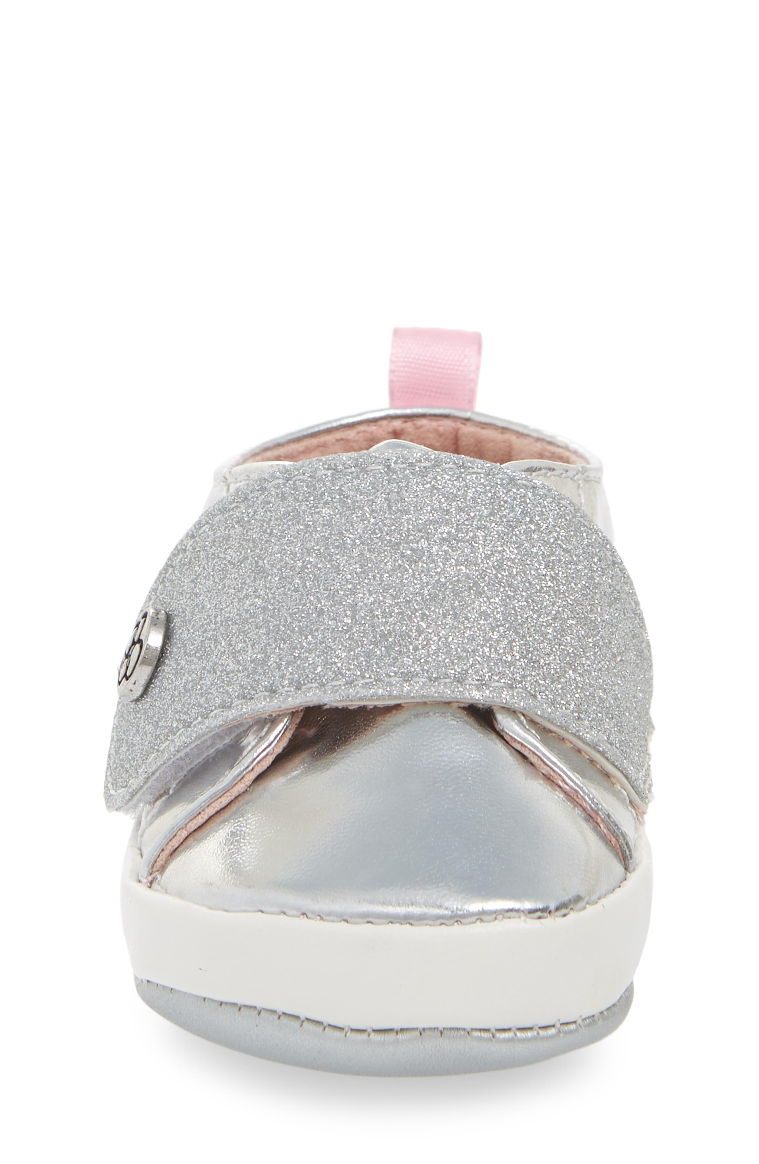 JESSICA SIMPSON,                             Glitter Crib Sneaker,                             Alternate thumbnail 4, color,                             040