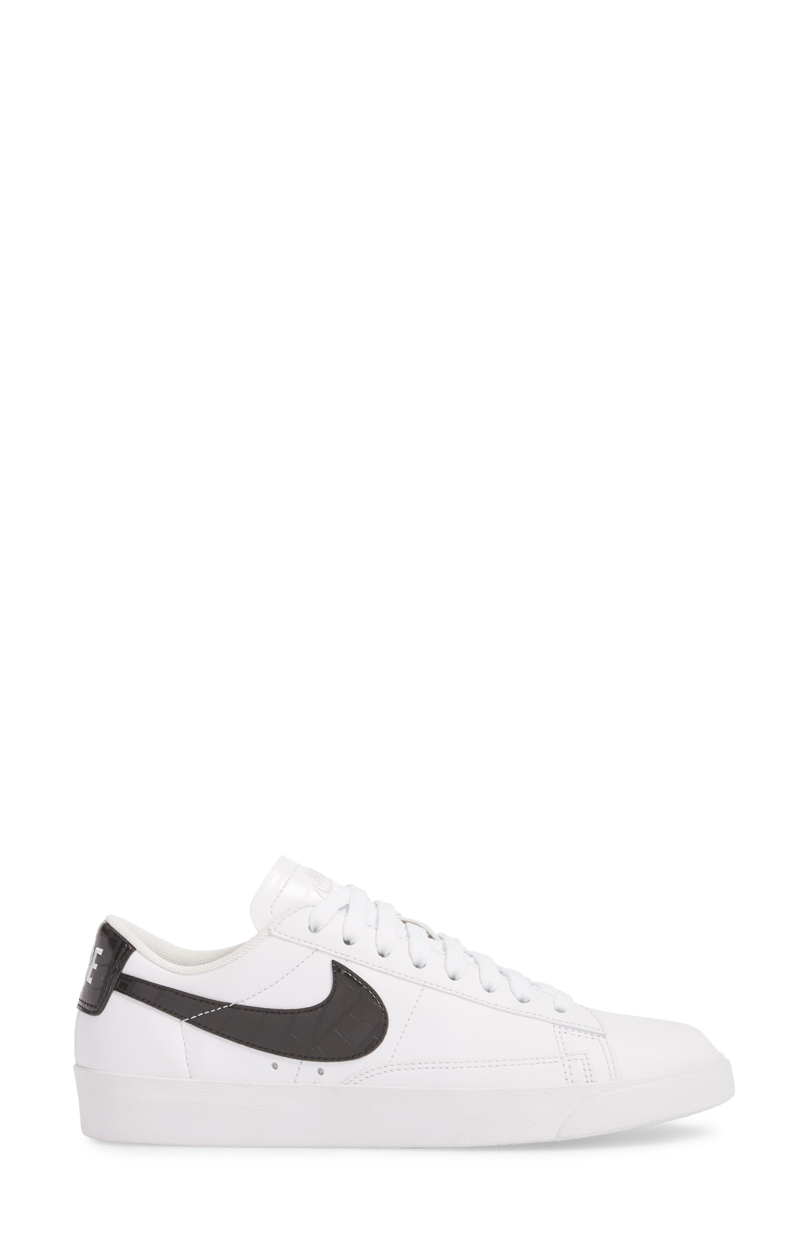 Blazer Low Essential Sneaker,                             Alternate thumbnail 3, color,                             100