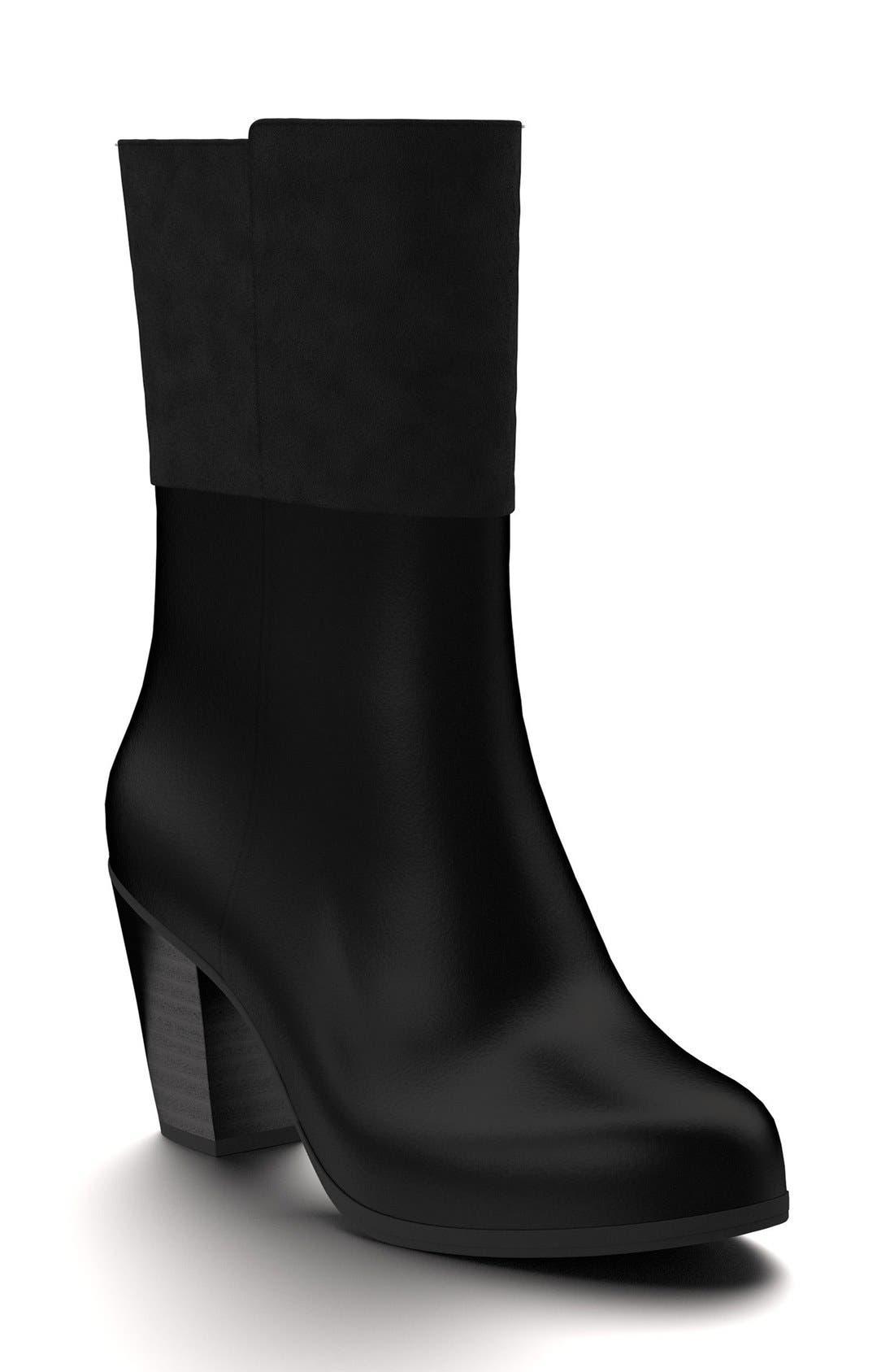 Block Heel Boot,                             Main thumbnail 1, color,                             001