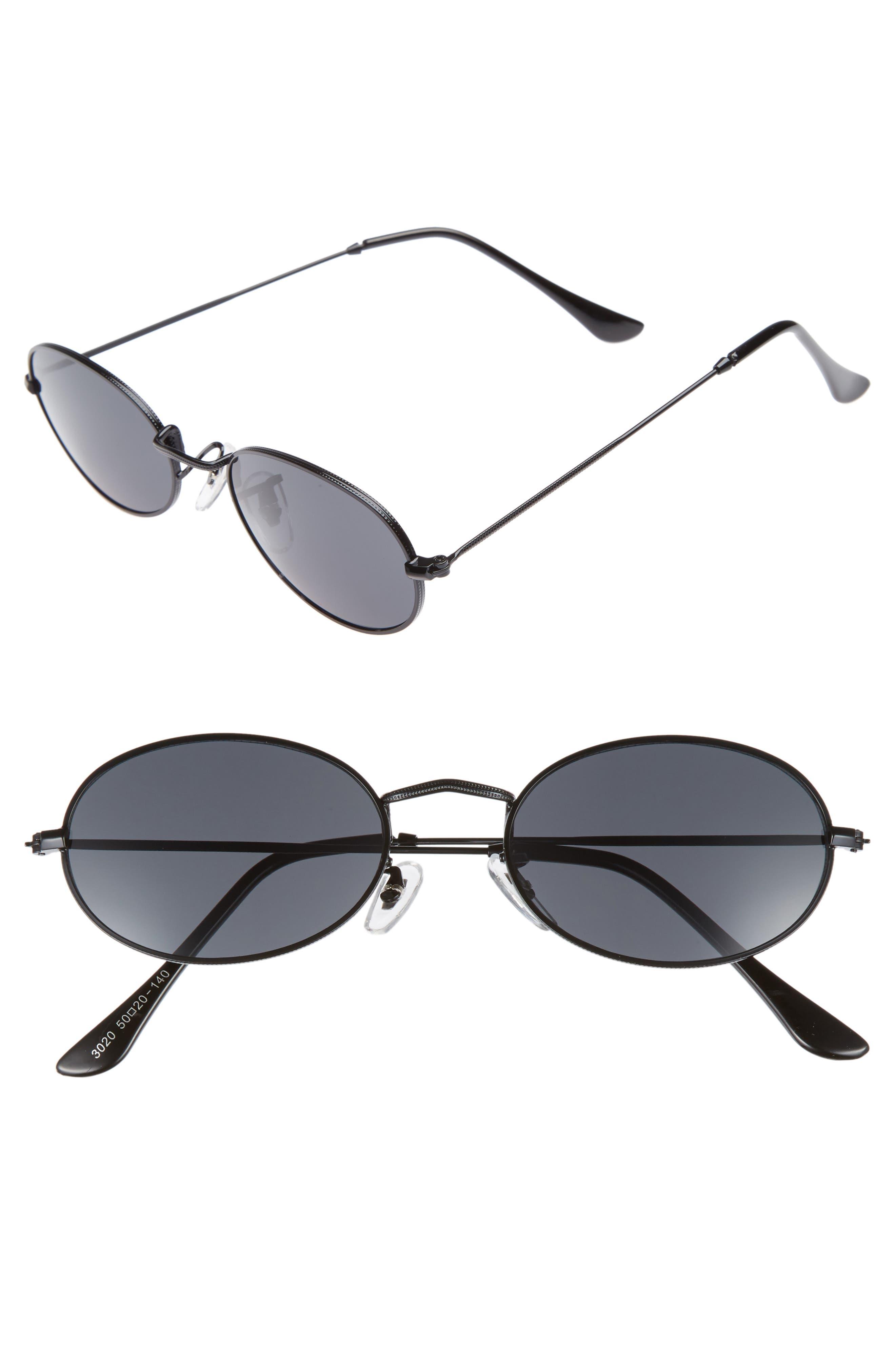 The Kendall 51mm Metal Sunglasses,                             Main thumbnail 1, color,                             001