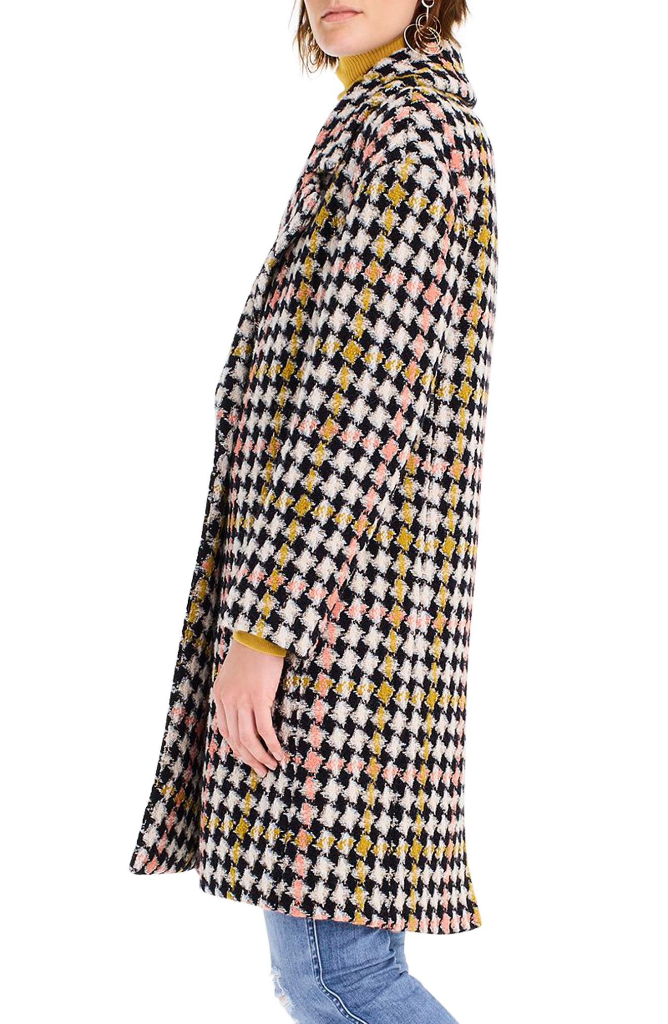 Collection Oversize Lurex<sup>®</sup> Tweed Coat,                             Alternate thumbnail 3, color,                             650