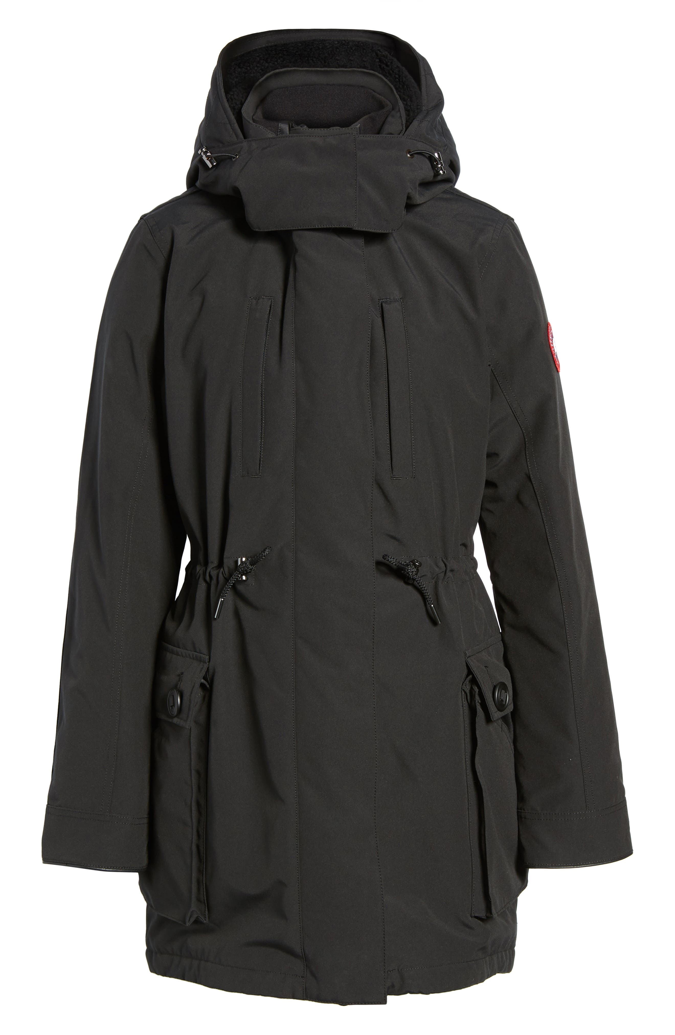 Perley Waterproof 675-Fill-Power Down 3-in-1 Parka,                             Alternate thumbnail 6, color,                             BLACK